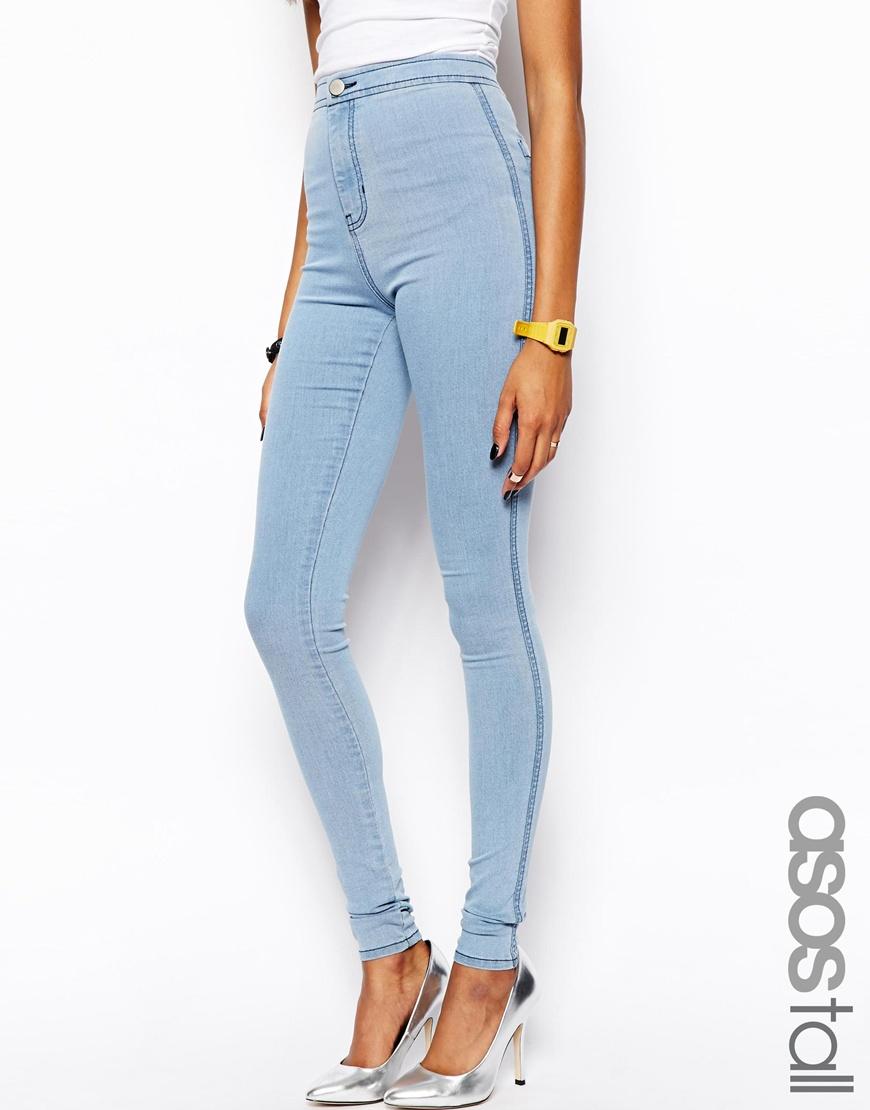 Gallery. Women's Jeggings Women's Light Wash Jeans - Asos Rivington High Waist Denim Jeggings In Light Wash In Blue Lyst