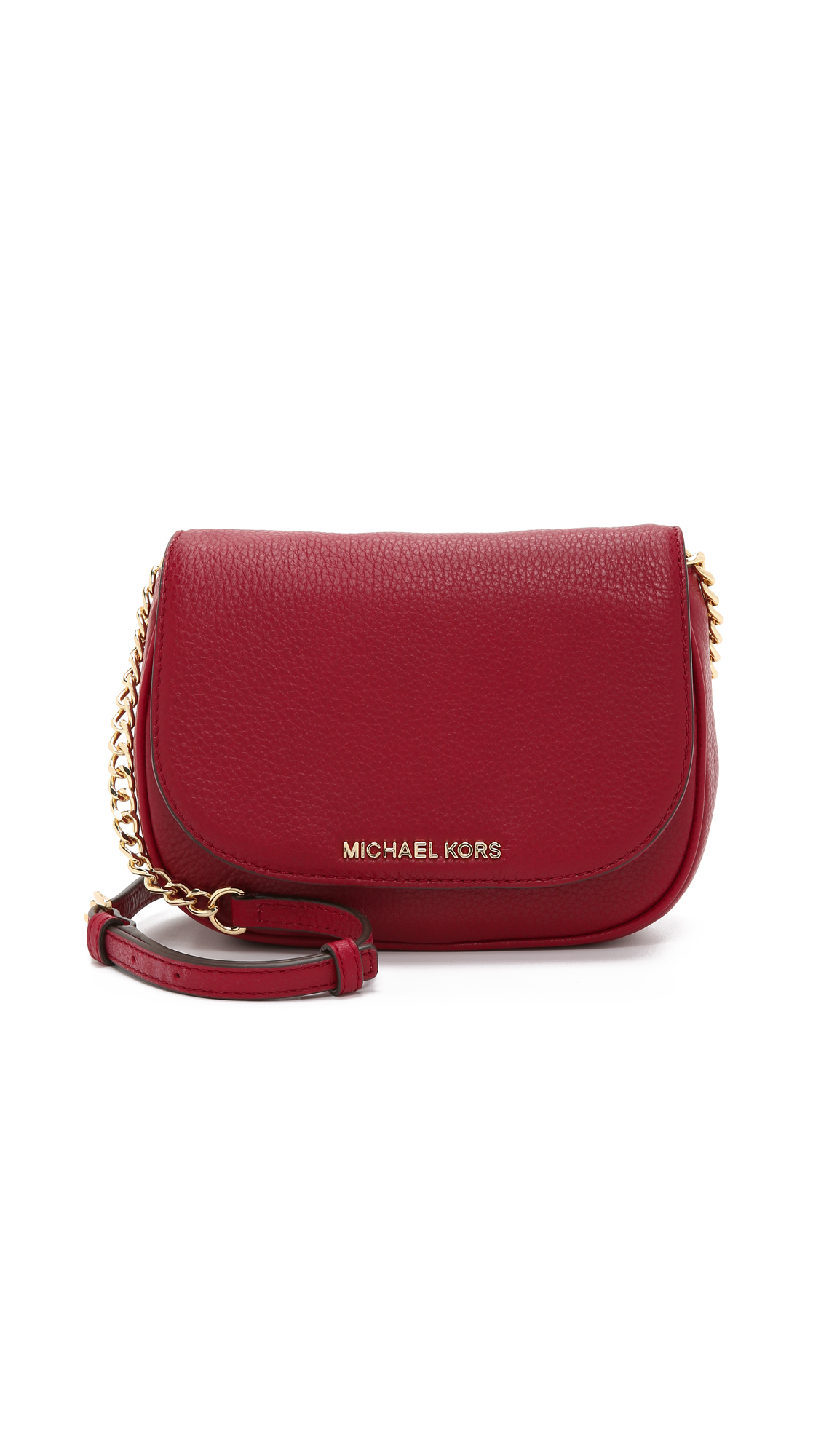0eefb77328a5c Lyst - MICHAEL Michael Kors Bedford Small Cross Body Bag - Cherry in Red