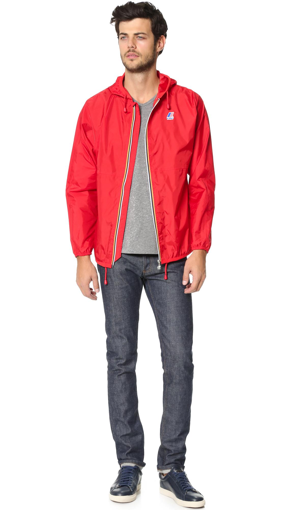 lyst k way claude klassic jacket in red for men. Black Bedroom Furniture Sets. Home Design Ideas