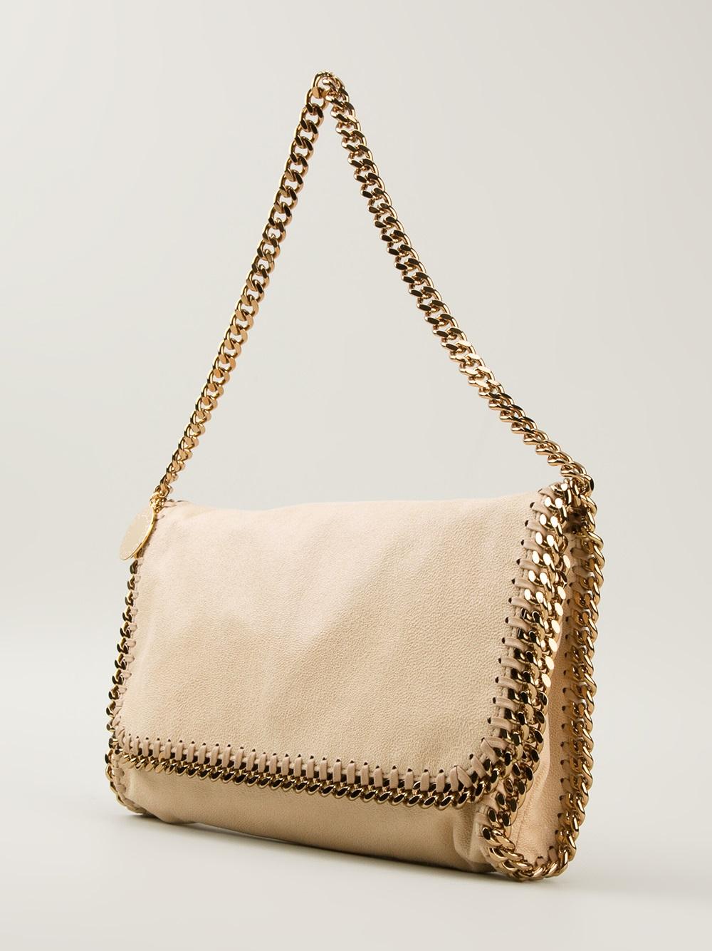 stella mccartney falabella shoulder bag in natural lyst. Black Bedroom Furniture Sets. Home Design Ideas