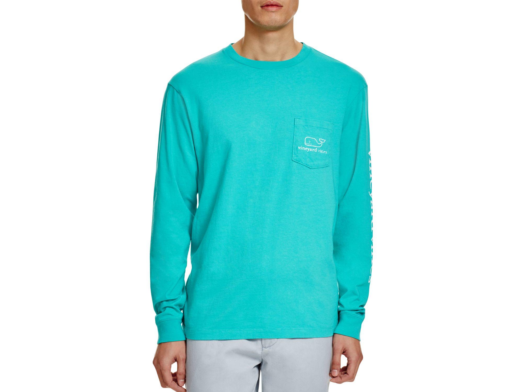 e8b36b094 Vineyard Vines Whale Graphic Long Sleeve Pocket Tee in Green for Men ...