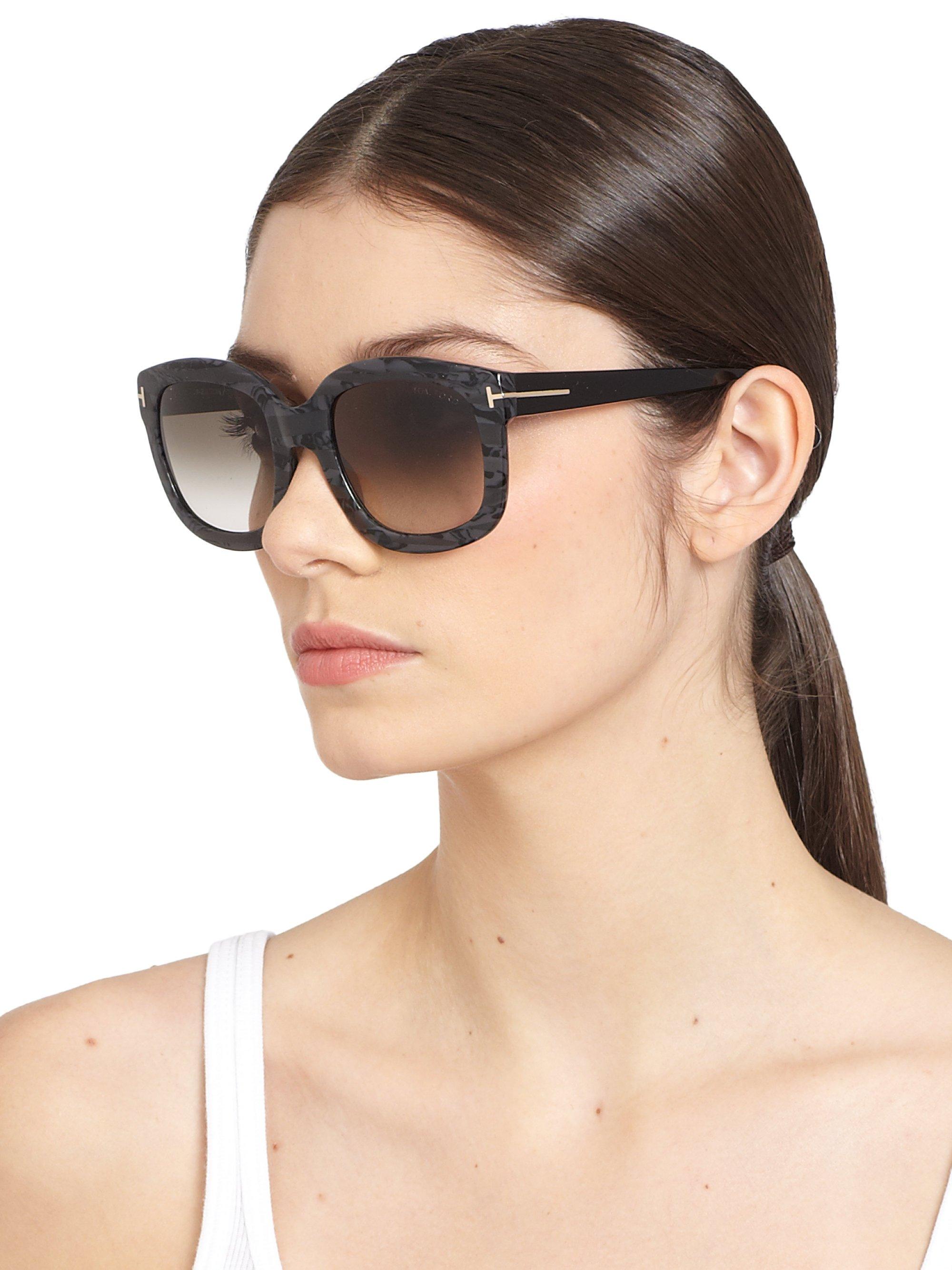 27af1dd9e9 Lyst - Tom Ford Christophe 53Mm Oversized Square Sunglasses in Black