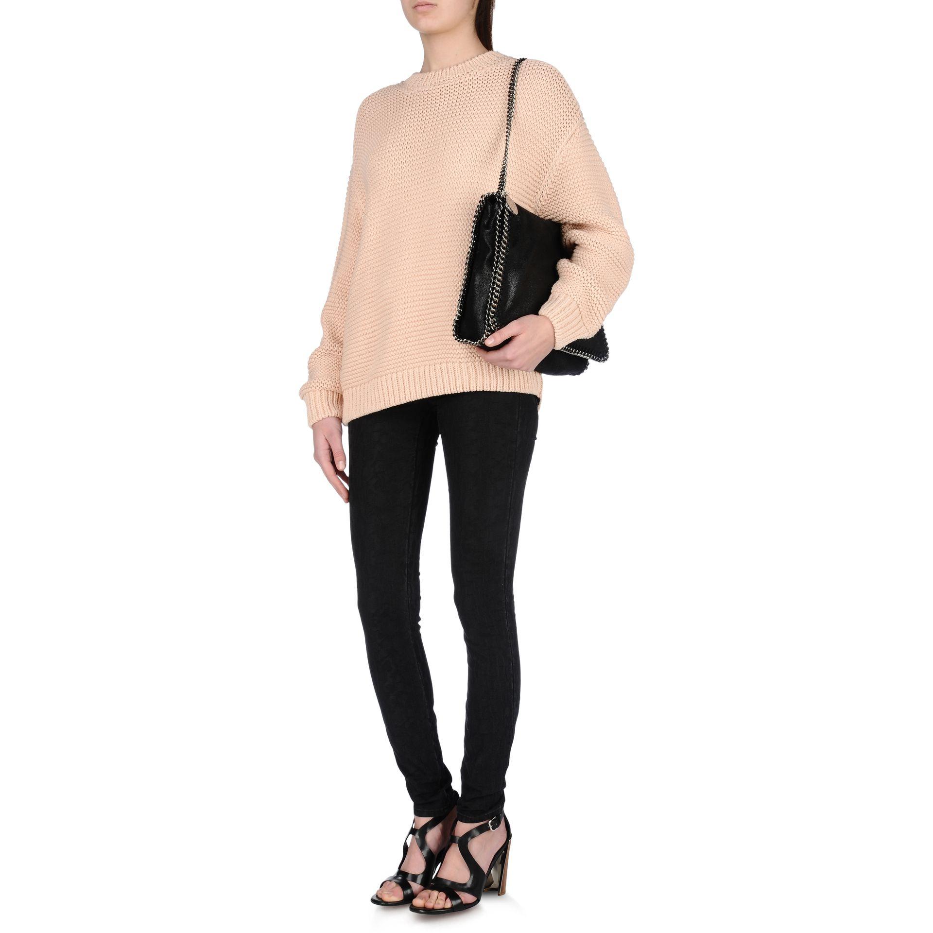 Shaggy Deer Falabella Shoulder Bag in Black Eco Leather Stella McCartney YwcdxD