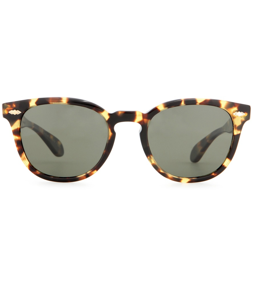 oliver peoples sheldrake plus sunglasses in brown lyst