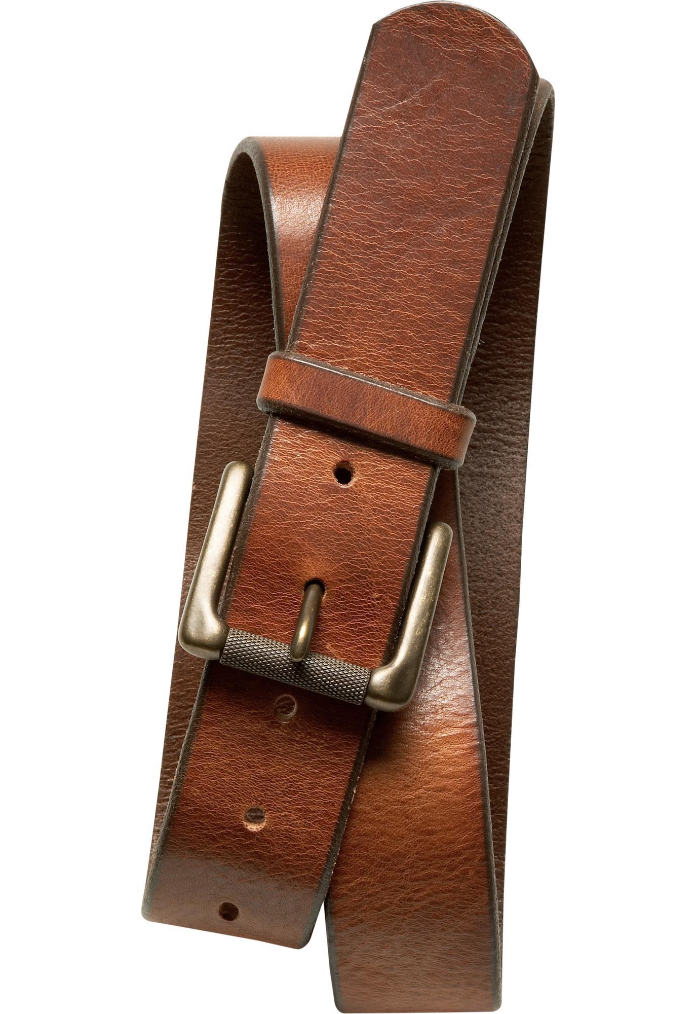 Banana republic Tumbled Italian Leather Belt in Brown for Men (cognac ...
