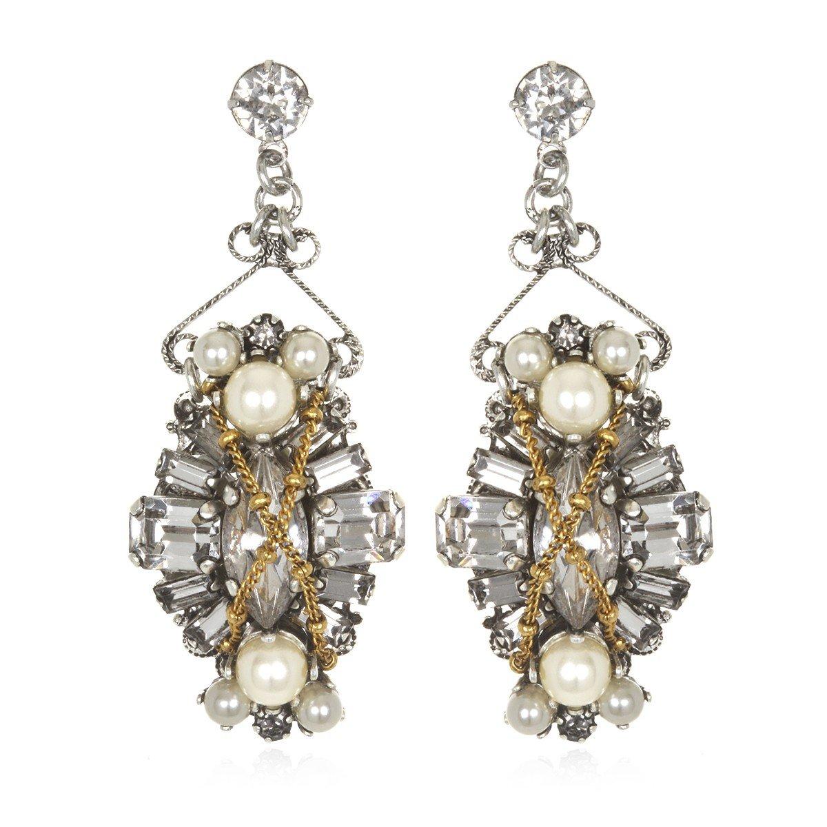 erickson beamon glenda earrings in silver lyst