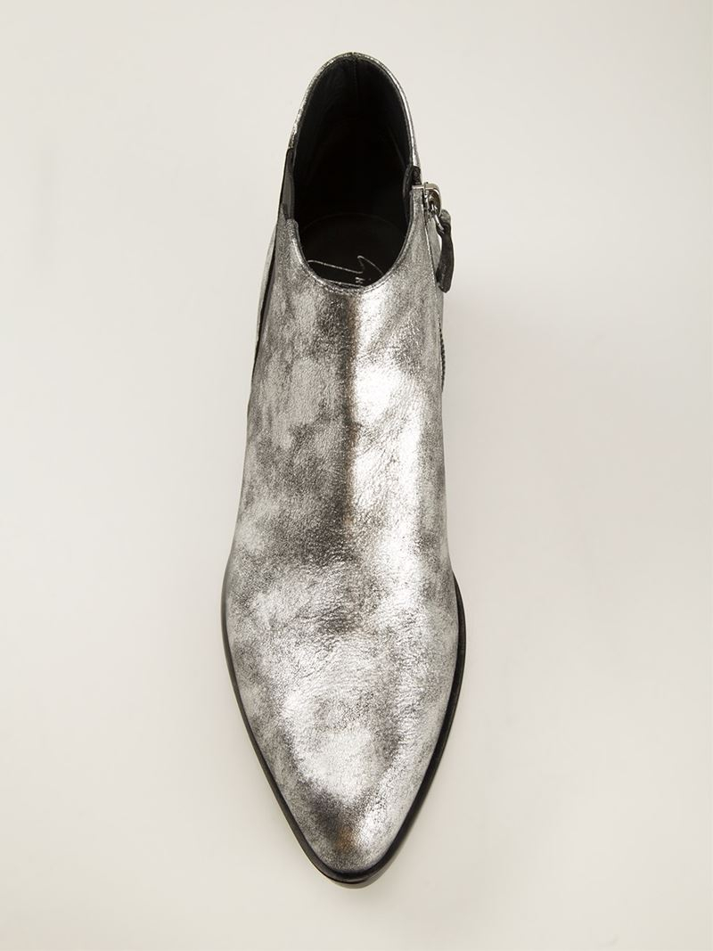discount sale half price best choice Giuseppe Zanotti Ankle Boots in Metallic - Lyst