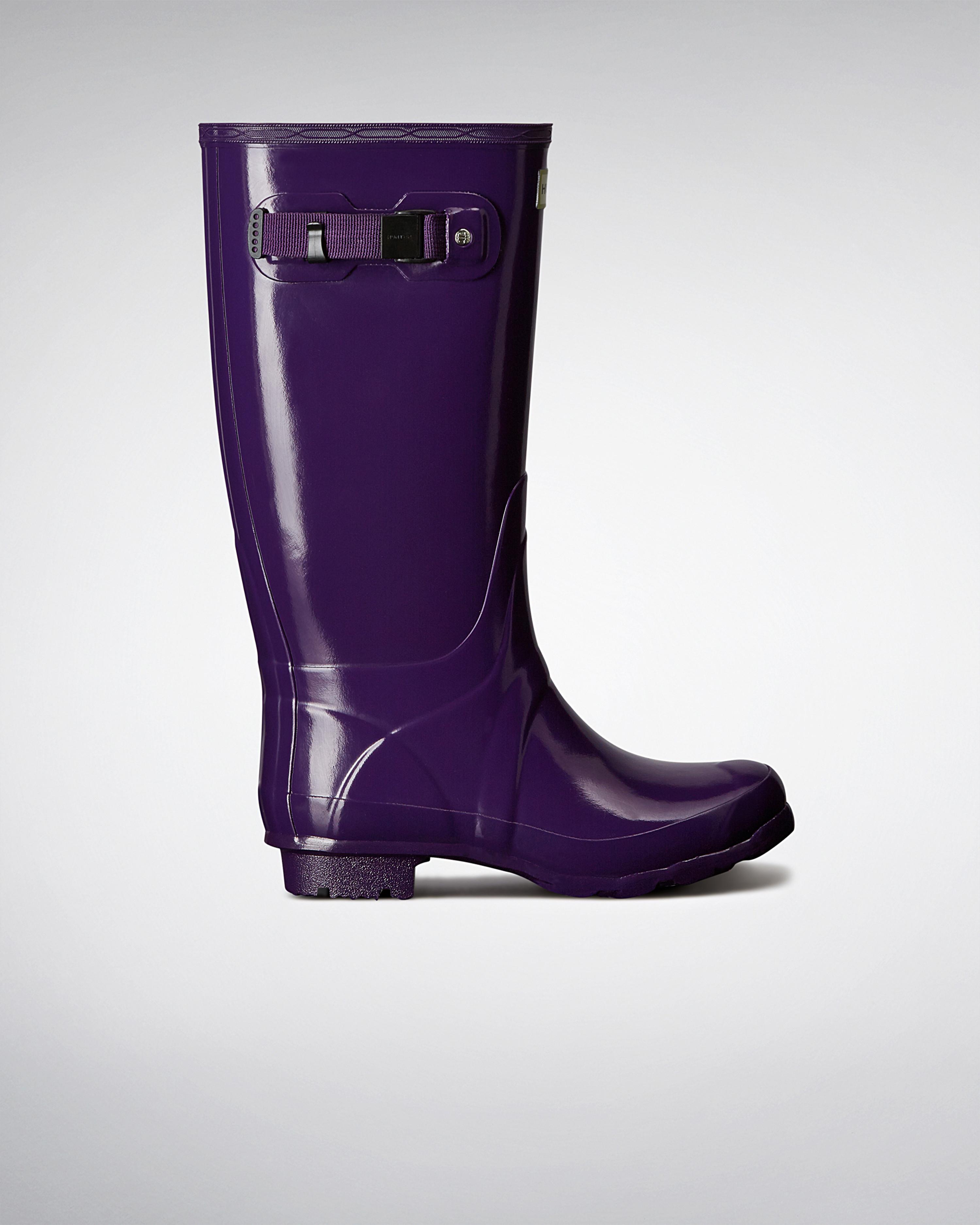 Excellent Hunter Original Tall Gloss Rain Boot For Women  Www