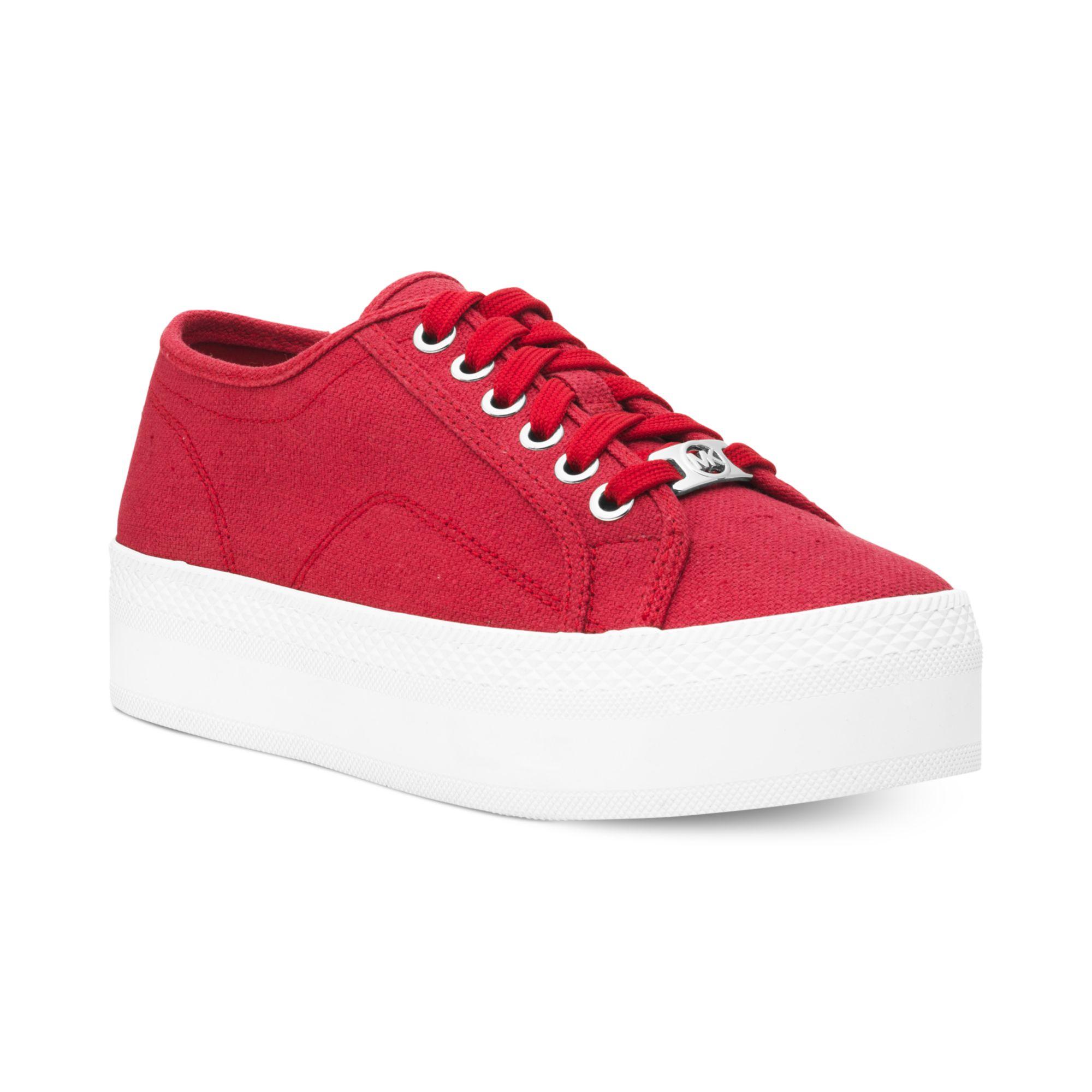 a876c87904e Lyst - Michael Kors Michael Boerum Platform Sneakers in Red