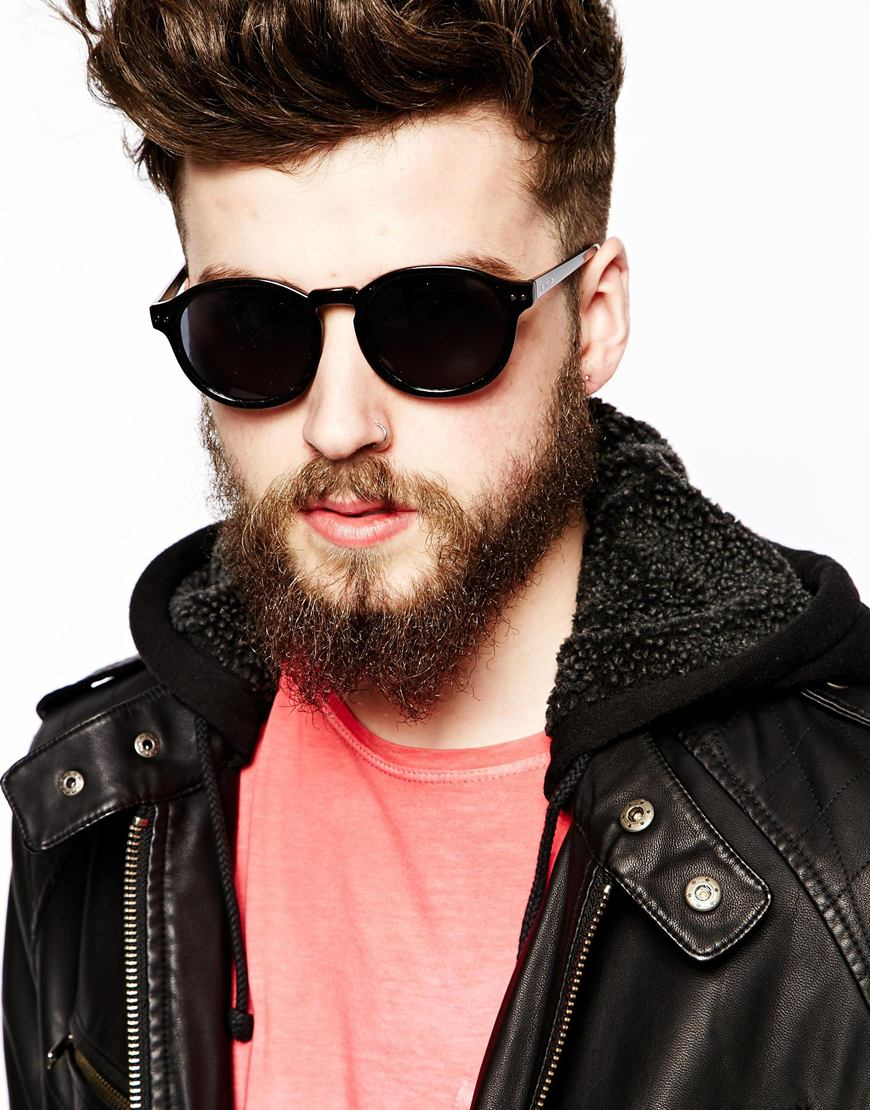 fc724a5492f6 Cheap Monday Round Sunglasses in Black for Men - Lyst