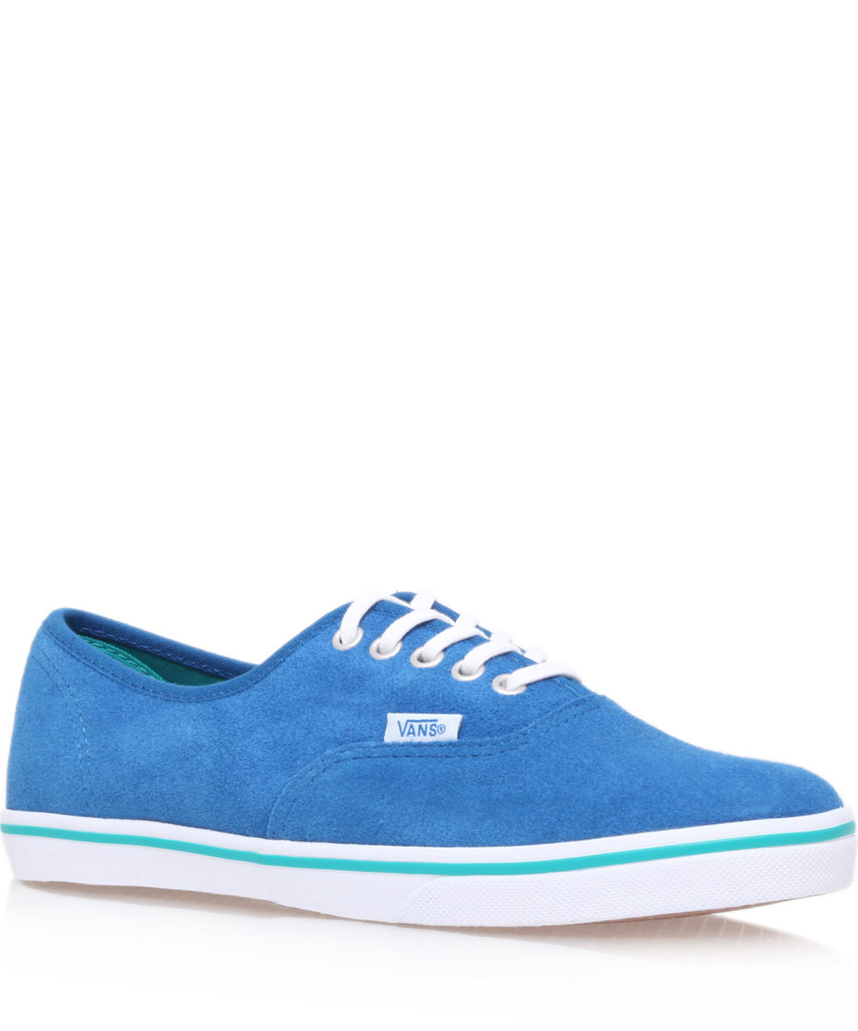 Vans Blue Suede Authentic Lo Pro Trainers For Men Lyst
