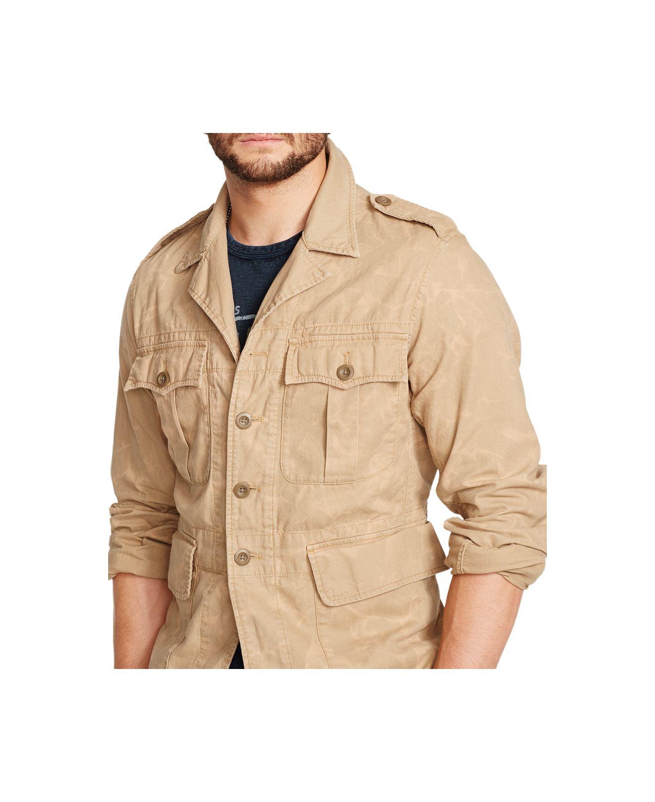 Denim Amp Supply Ralph Lauren Safari Jacket In Natural For