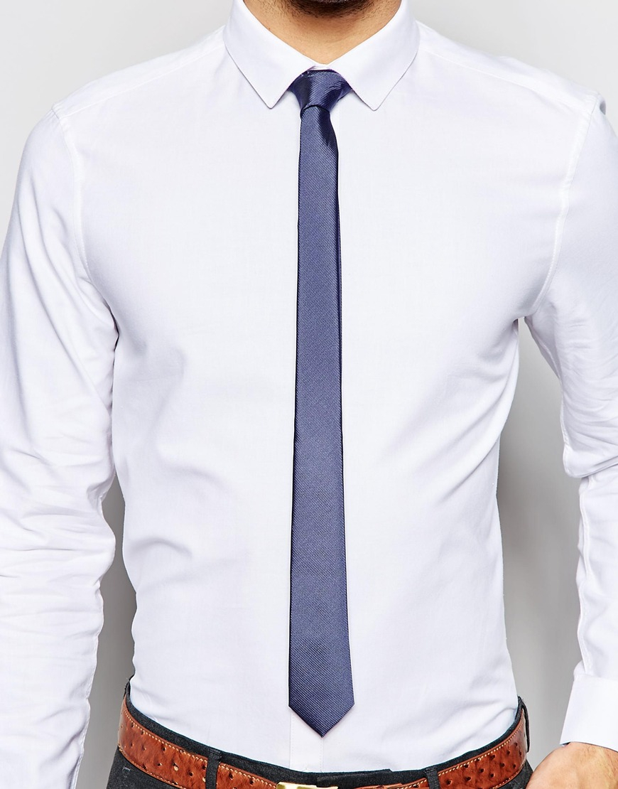 Asos Oxford Shirt And Textured Tie Set Save 21 In White
