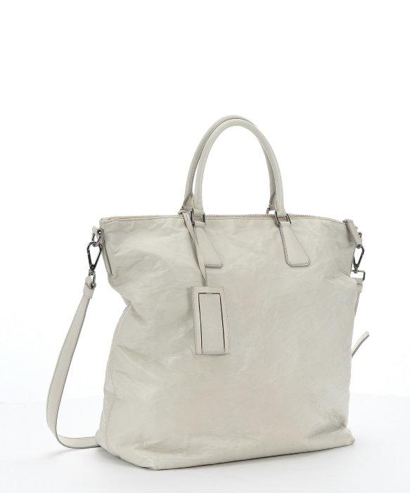 Prada Pre-owned  Ivory Crinkled Leather Oversized . f930b95b63c3c