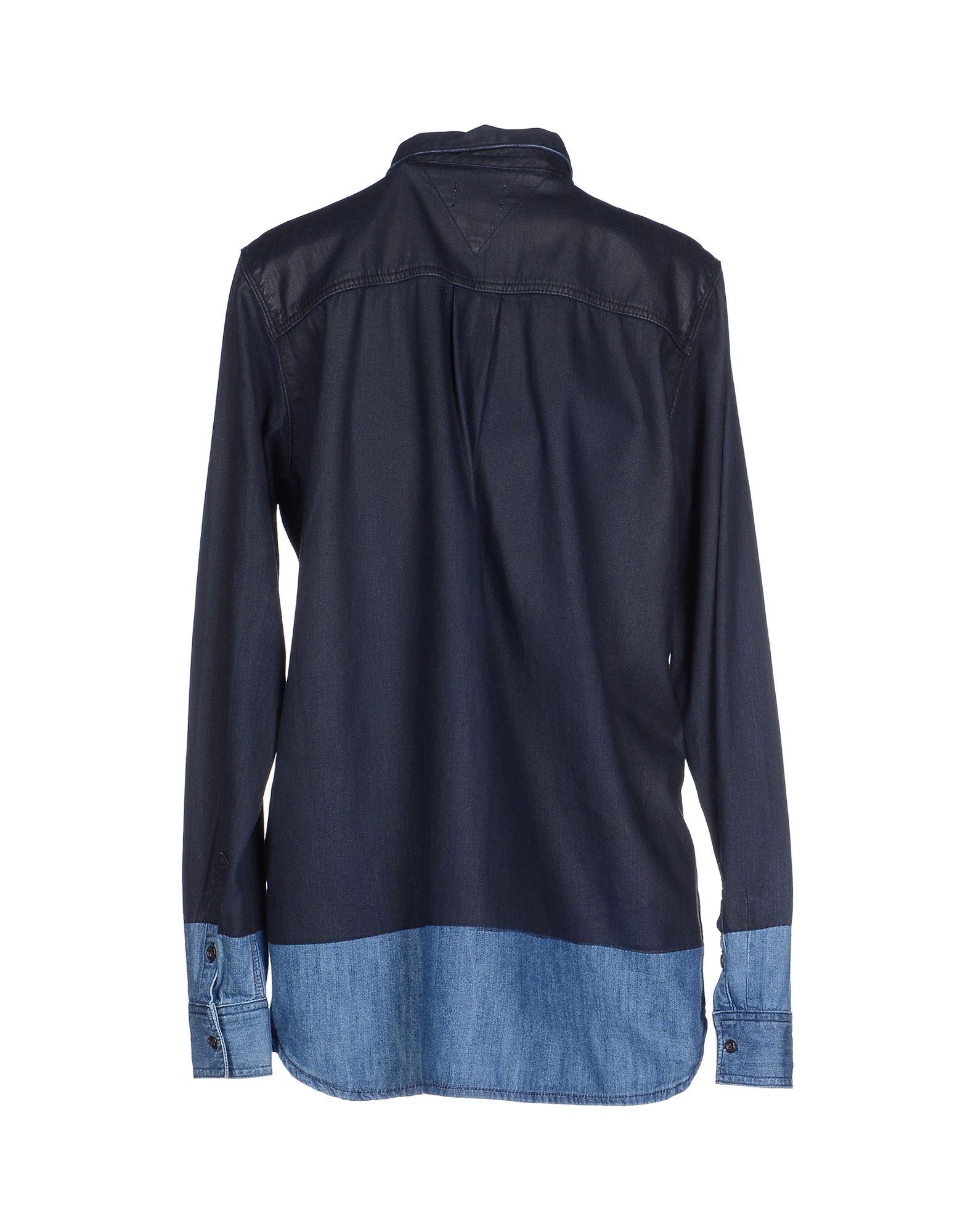 tommy hilfiger denim denim shirt in blue for men lyst. Black Bedroom Furniture Sets. Home Design Ideas