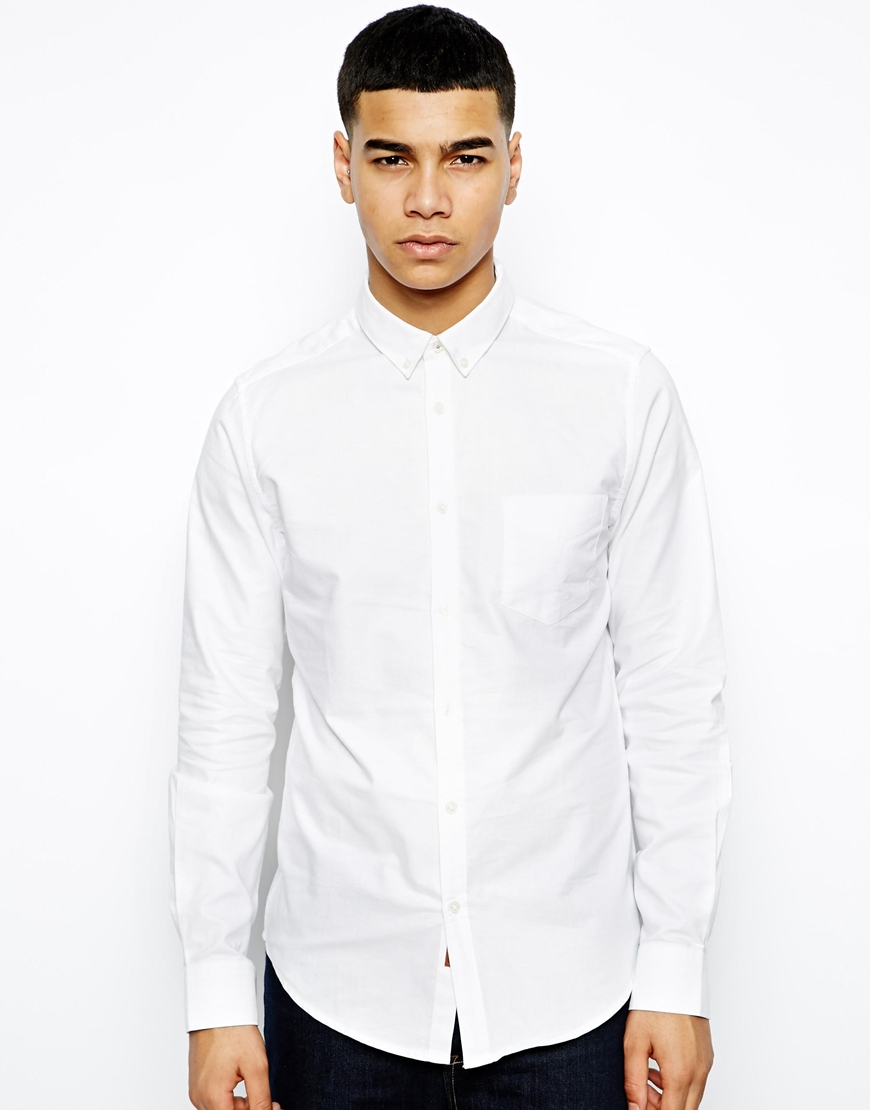 Ben Sherman Shirt With Button Down Collar In White For Men