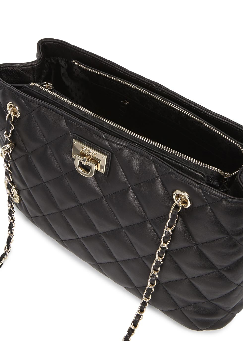 Dkny Gansevoort Black Quilted Shoulder Bag Lyst