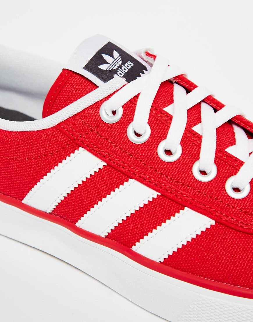 adidas canvas shoes red