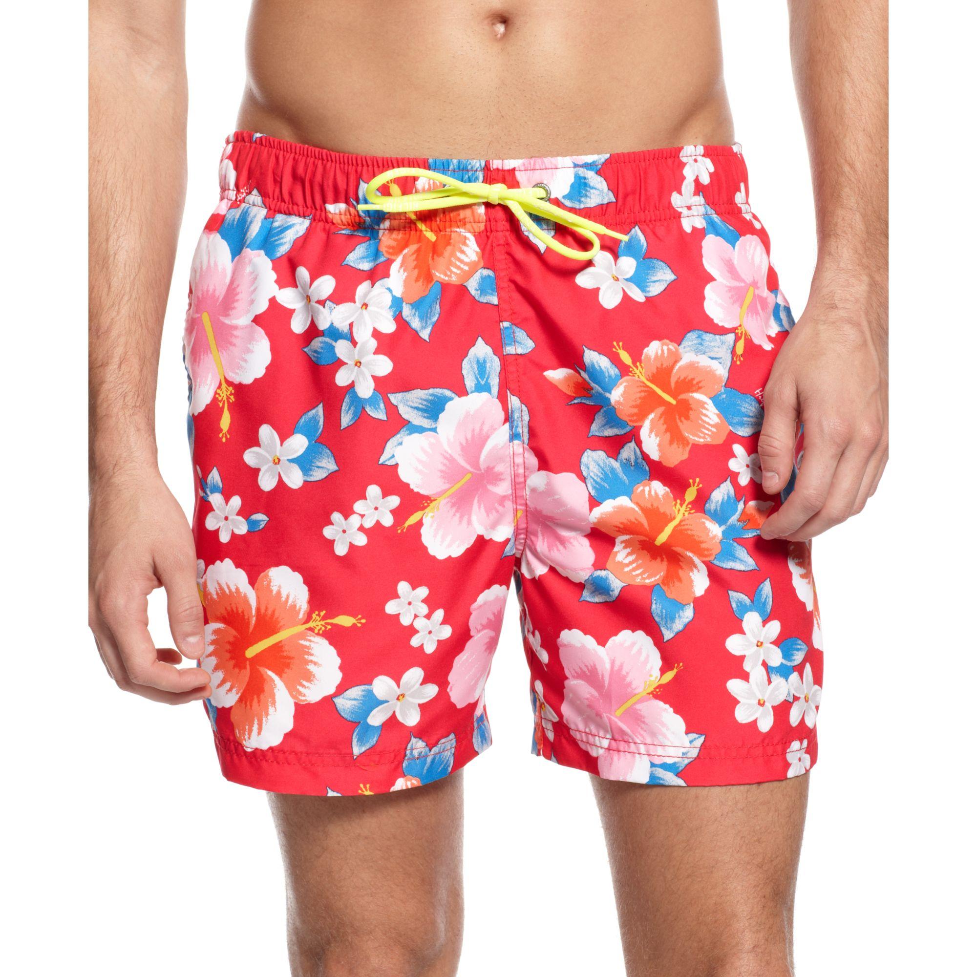 fda4405891 Tommy Hilfiger Flower Print Swim Trunks European Collection for Men ...