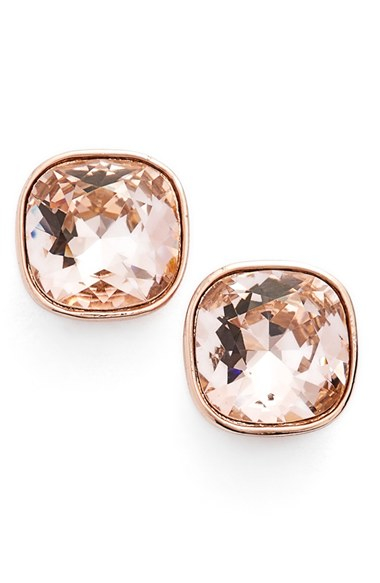 f0bad31e1 Givenchy Crystal Stud Earrings in Metallic - Lyst
