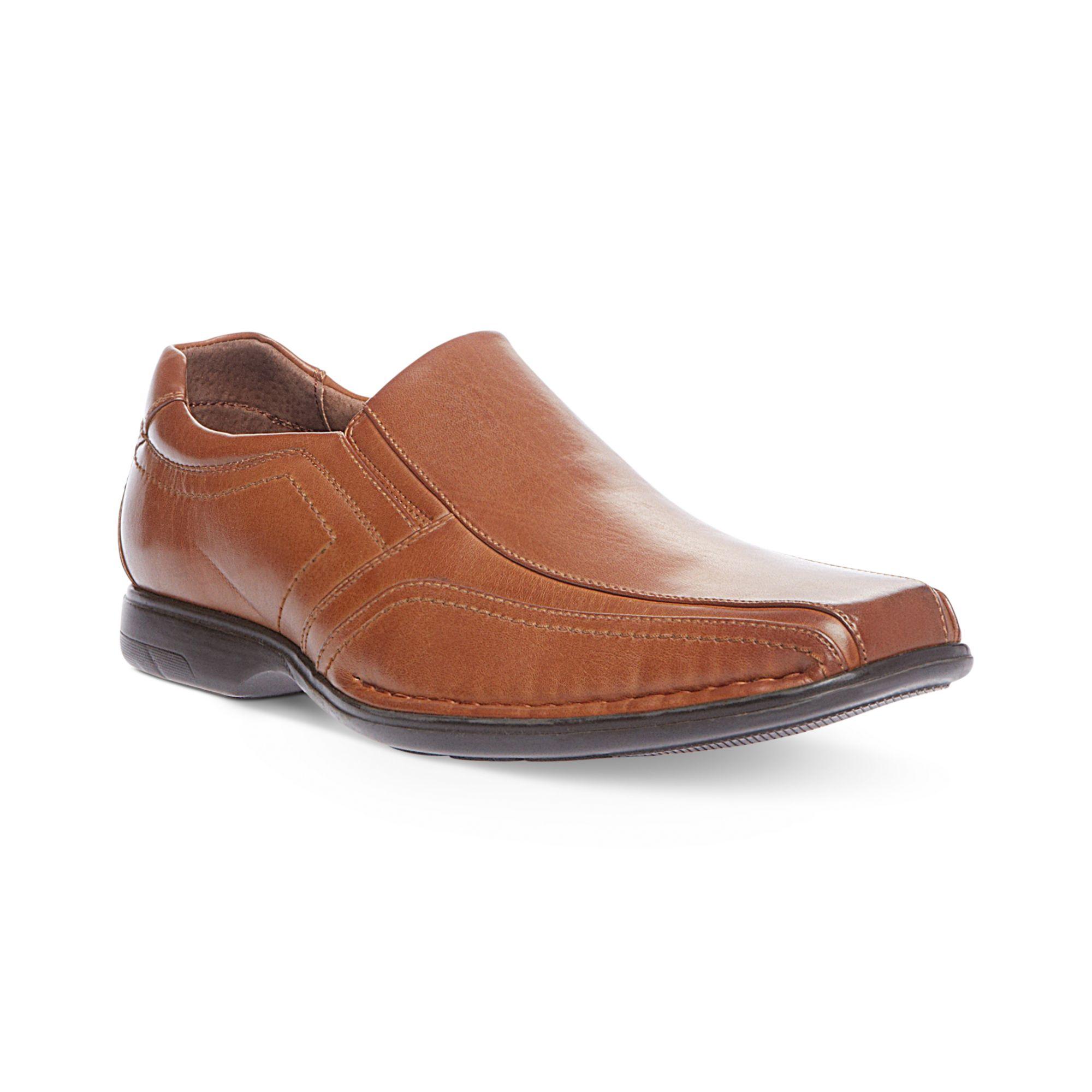 steve madden nelson slipon shoes in brown for lyst