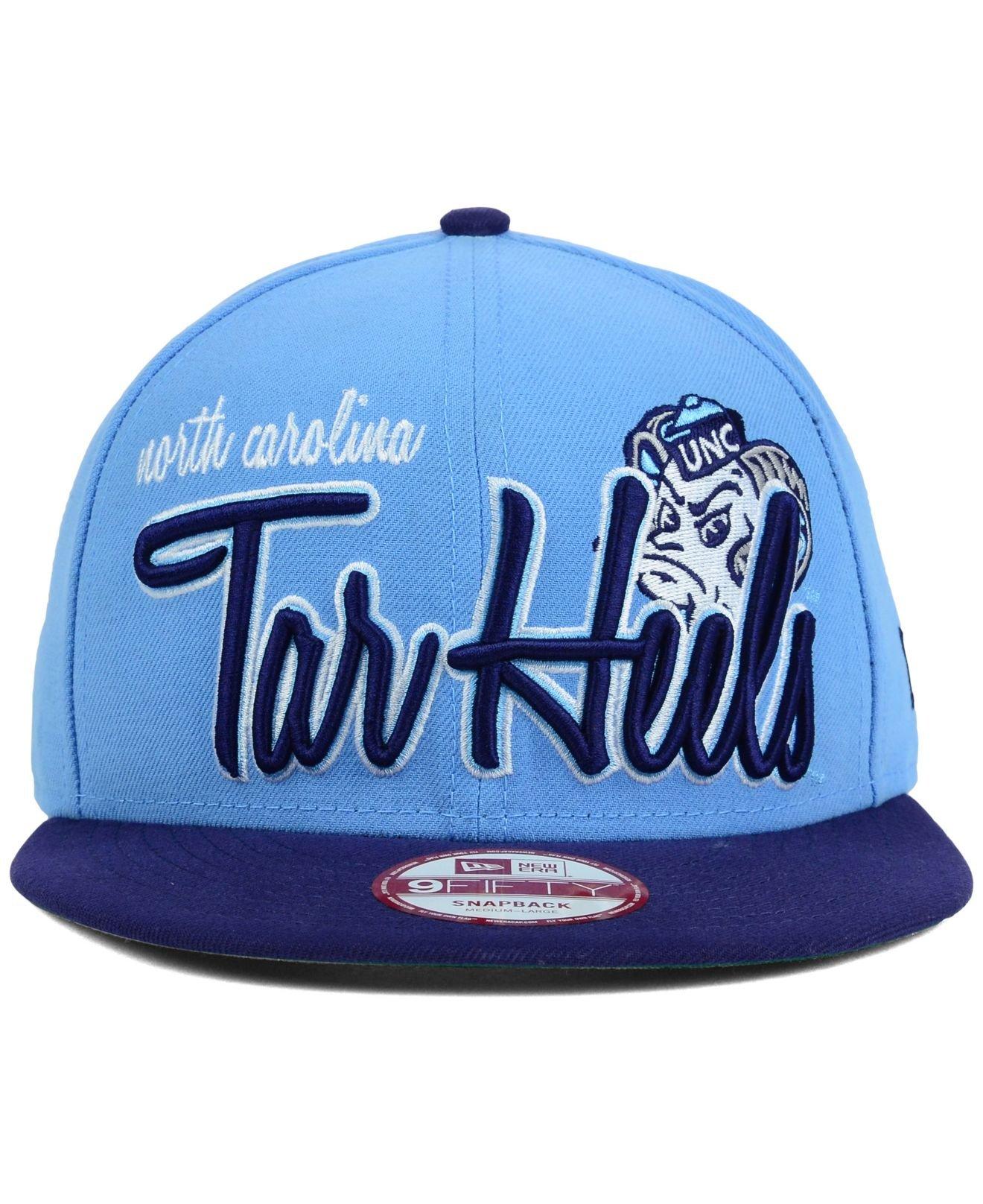 best cheap ad8f5 93068 KTZ North Carolina Tar Heels Team Script 9Fifty Snapback Cap in Blue ...