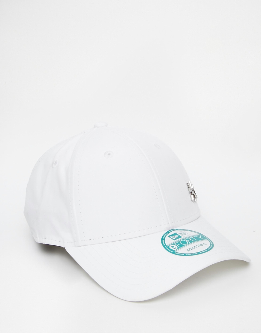 912572283 KTZ 9forty Ny Flawless Adjustable Cap in White for Men - Lyst