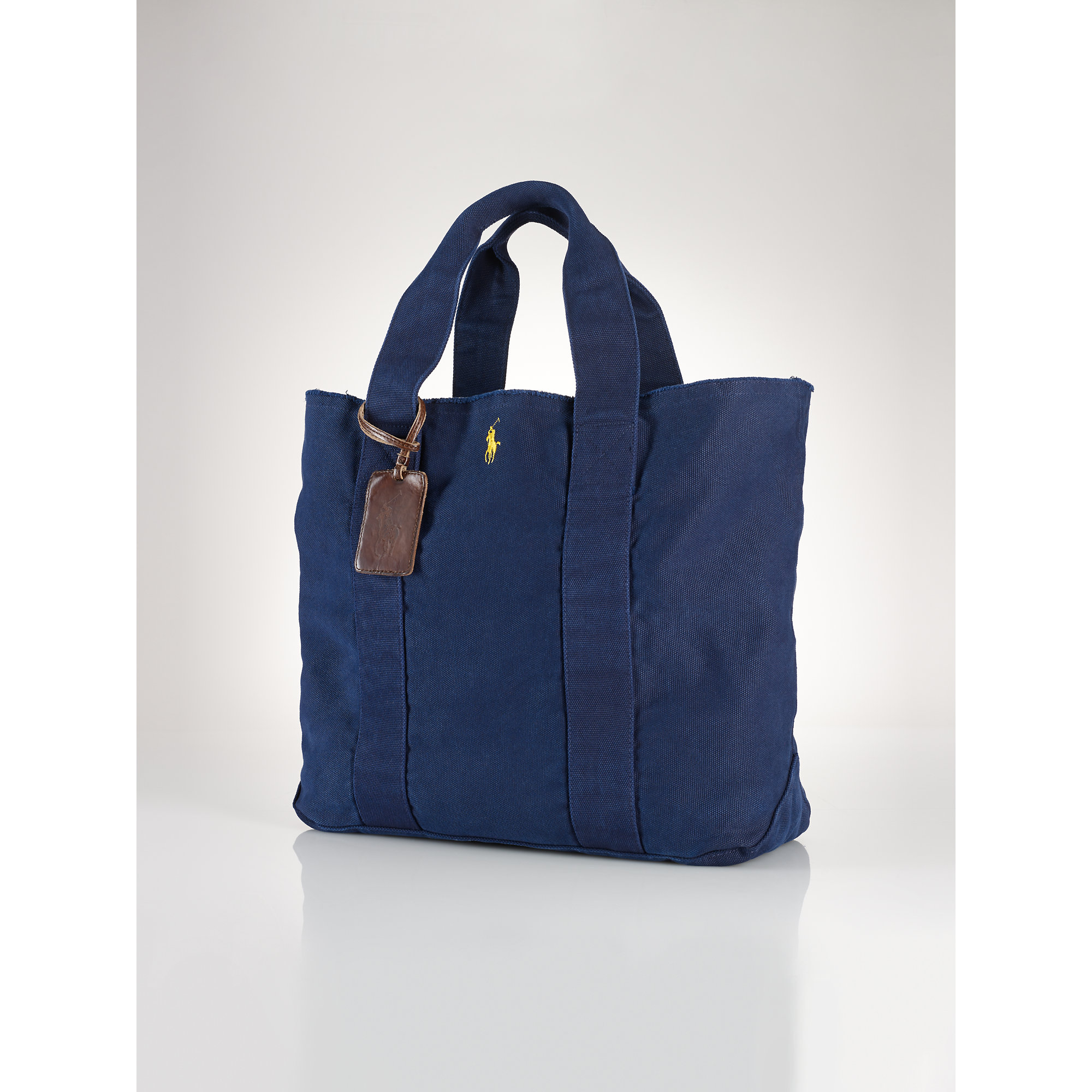 Polo ralph lauren Pony Canvas Tote in Blue | Lyst