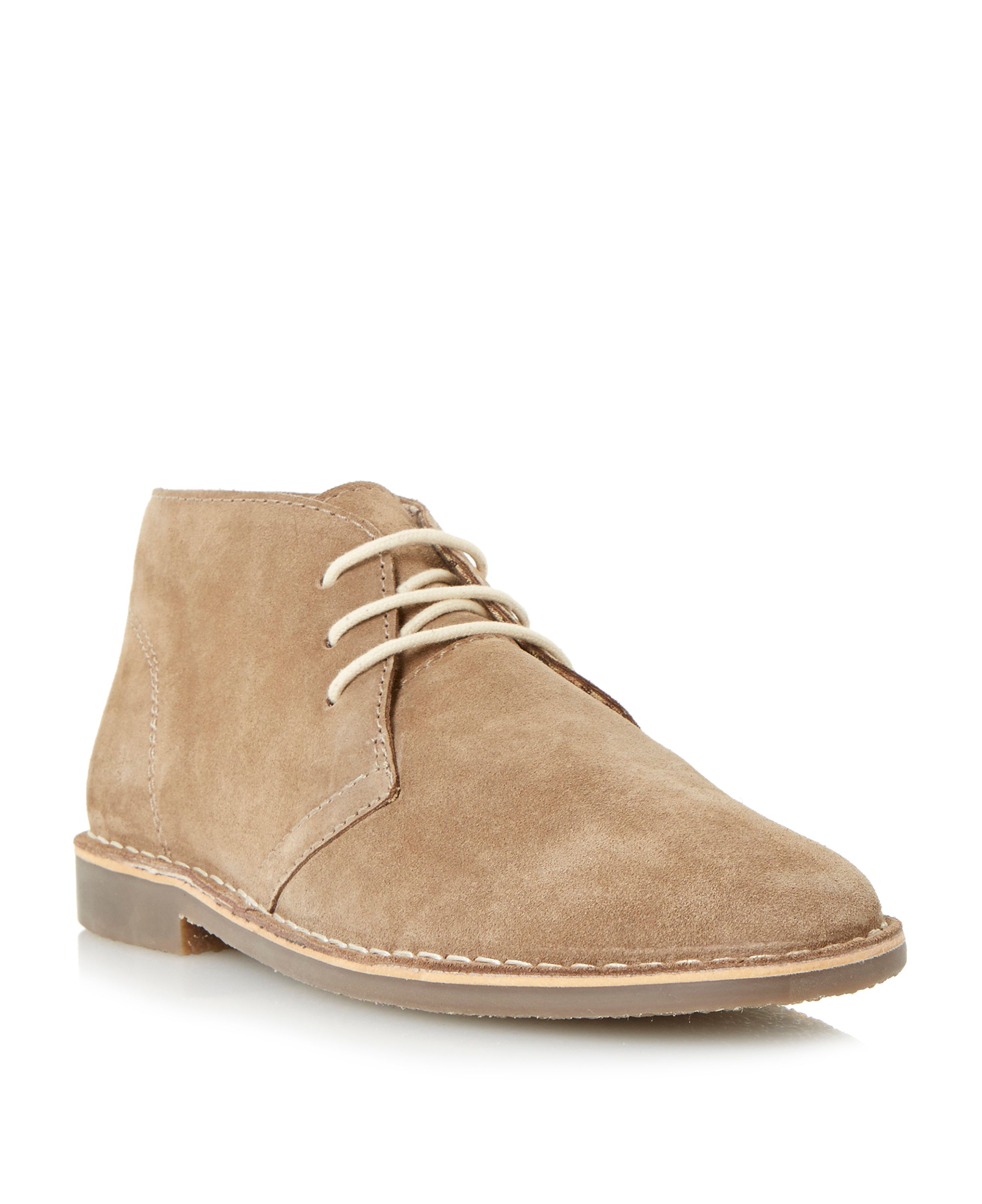 howick hunter casual desert boots in natural for men lyst. Black Bedroom Furniture Sets. Home Design Ideas