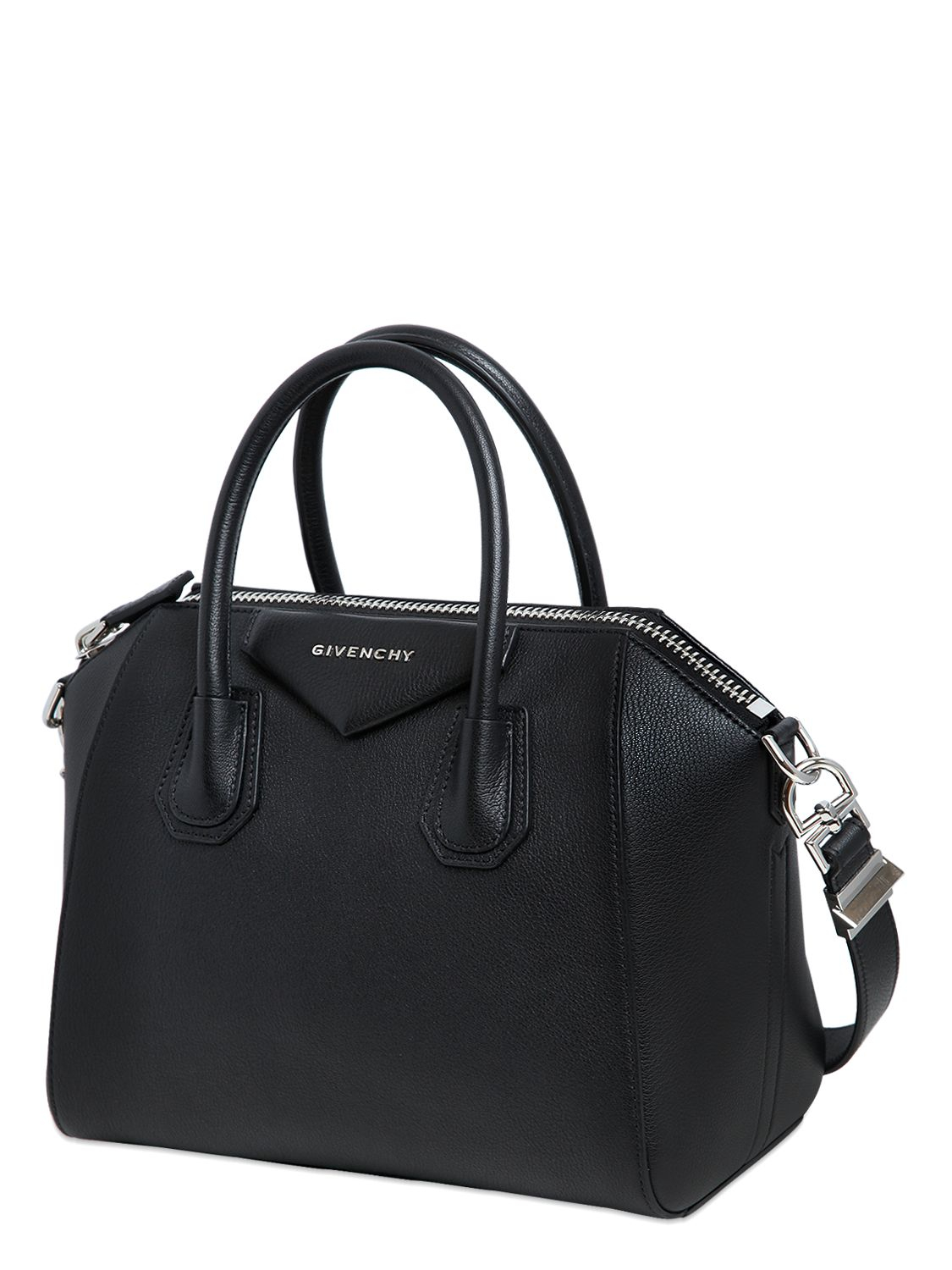 f581c383d8 Givenchy Small Antigona Grained Leather Bag in Black - Lyst