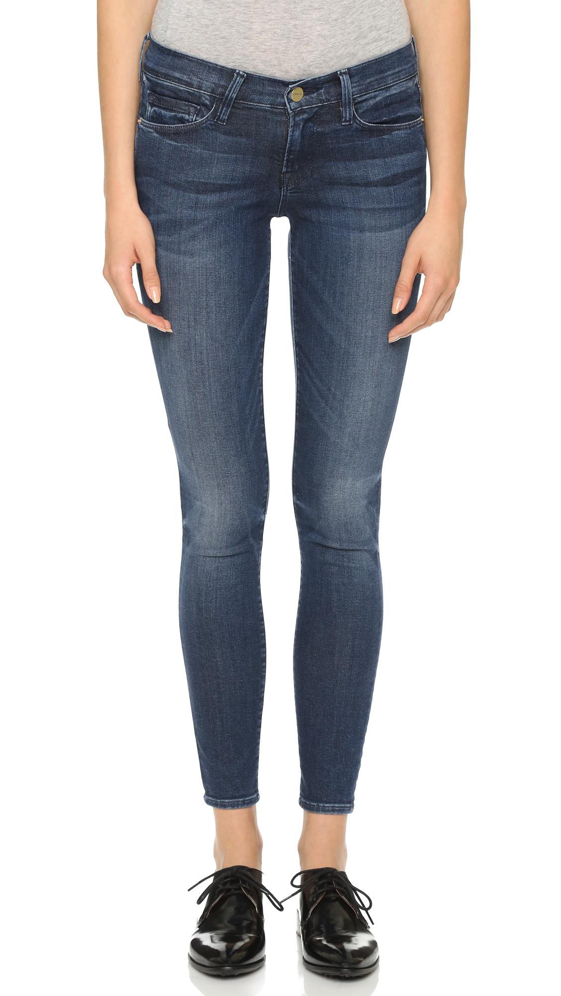 29e99b0d FRAME Le Skinny De Jeanne Jeans in Blue - Lyst