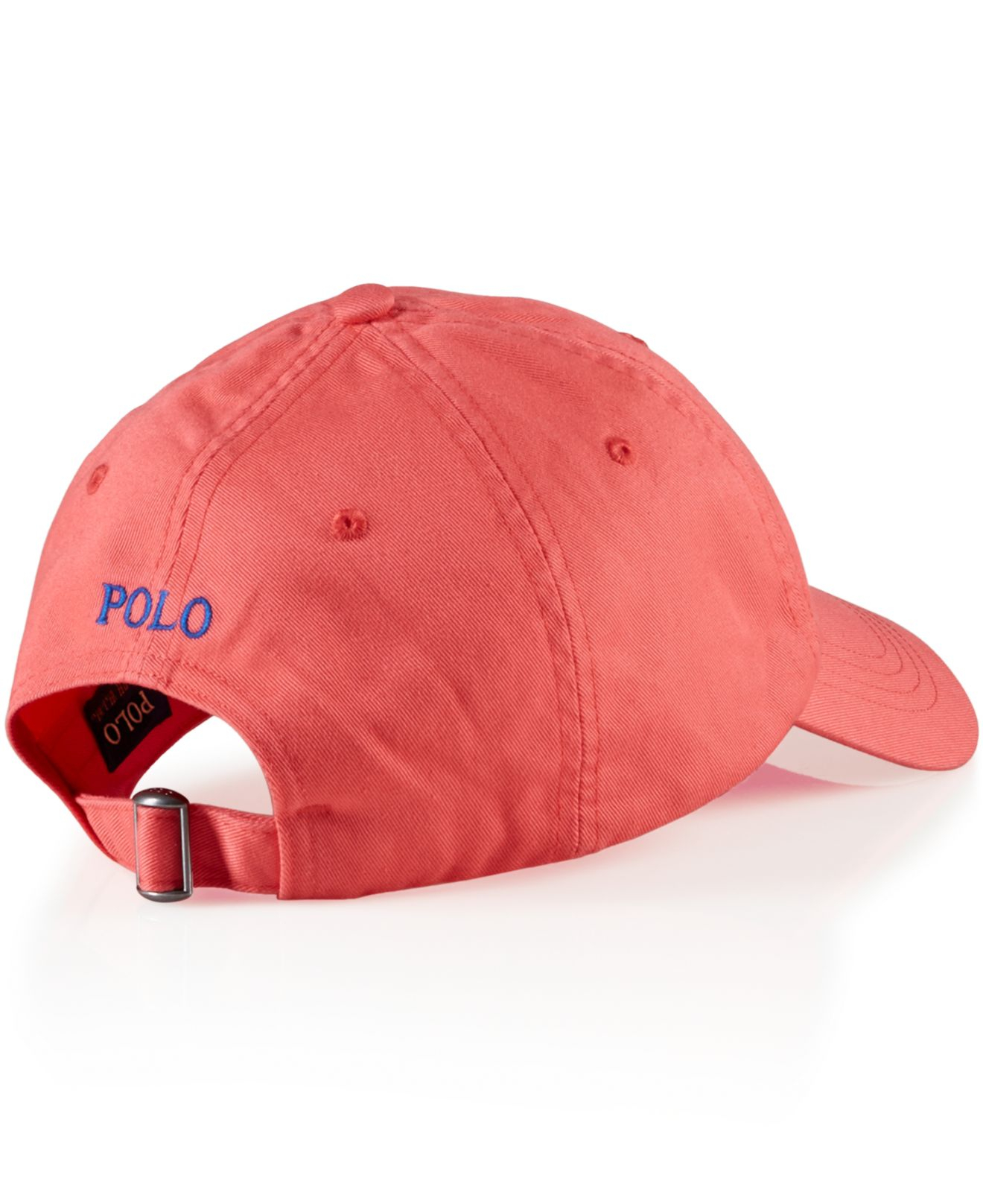 Lyst - Polo Ralph Lauren Classic Chino Sports Cap in Pink for Men ea32cbd3226