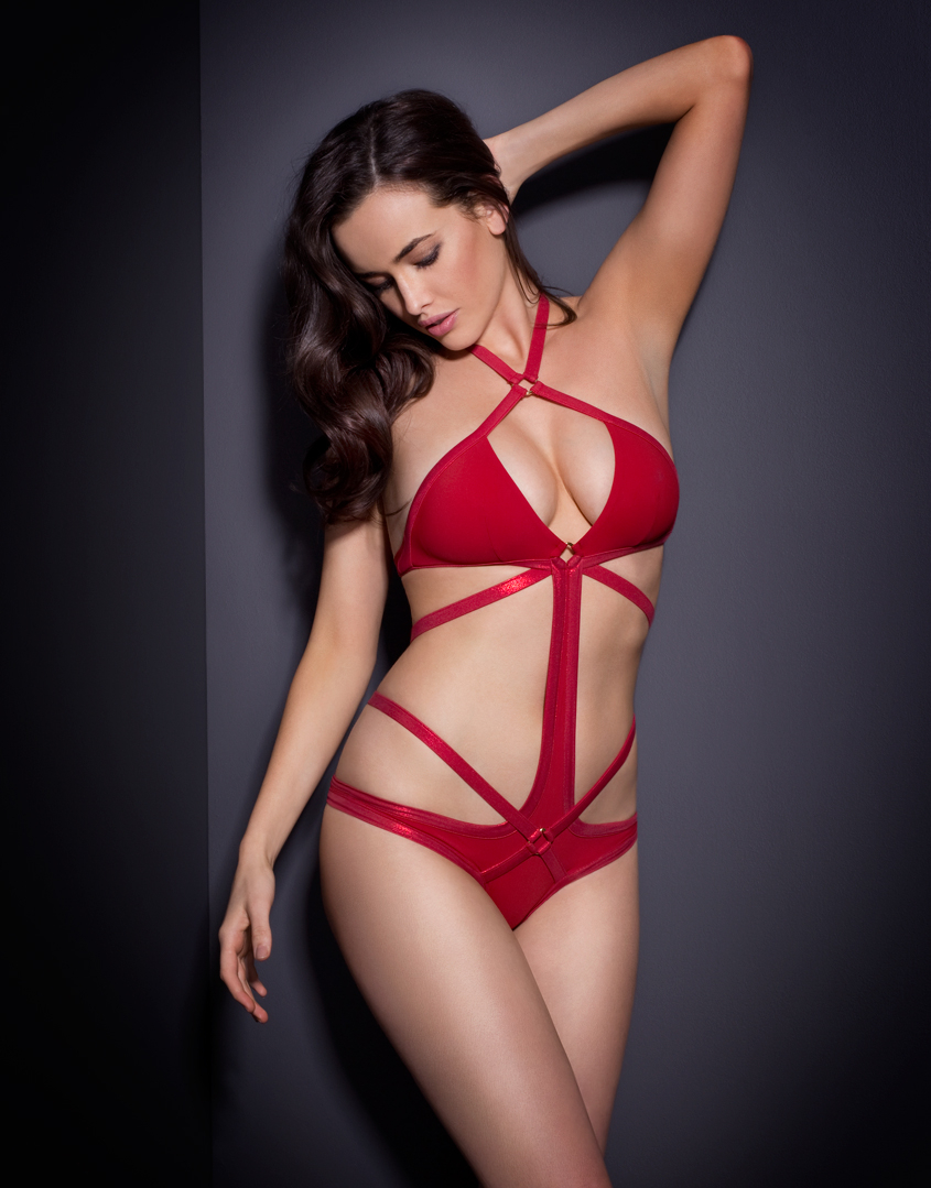 149257f280f04 Agent Provocateur Shelby Swimsuit Red in Red - Lyst
