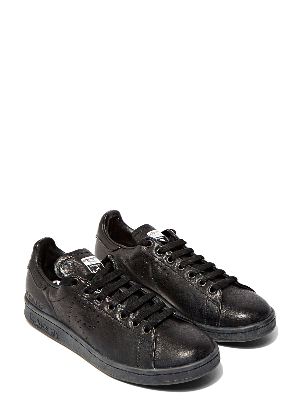 raf simons aged stan smith sneakers in black for men lyst. Black Bedroom Furniture Sets. Home Design Ideas