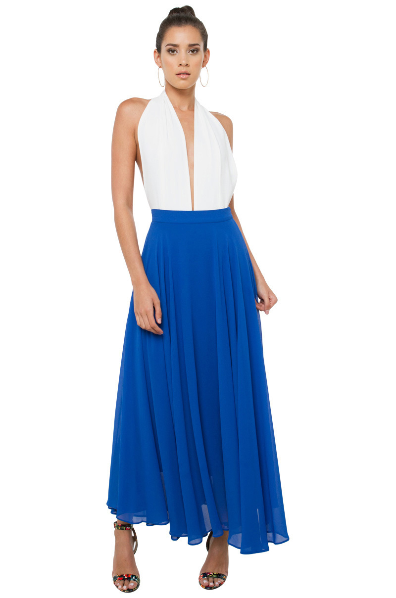 black label blue maxi skirt in blue lyst
