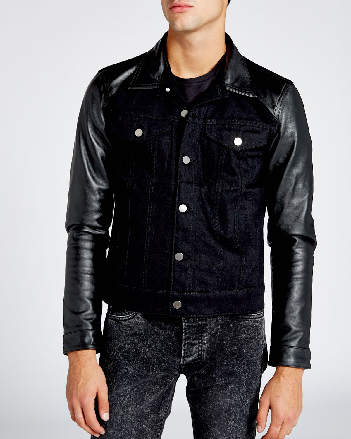Find great deals on eBay for denim jacket leather sleeves mens. Shop with confidence.