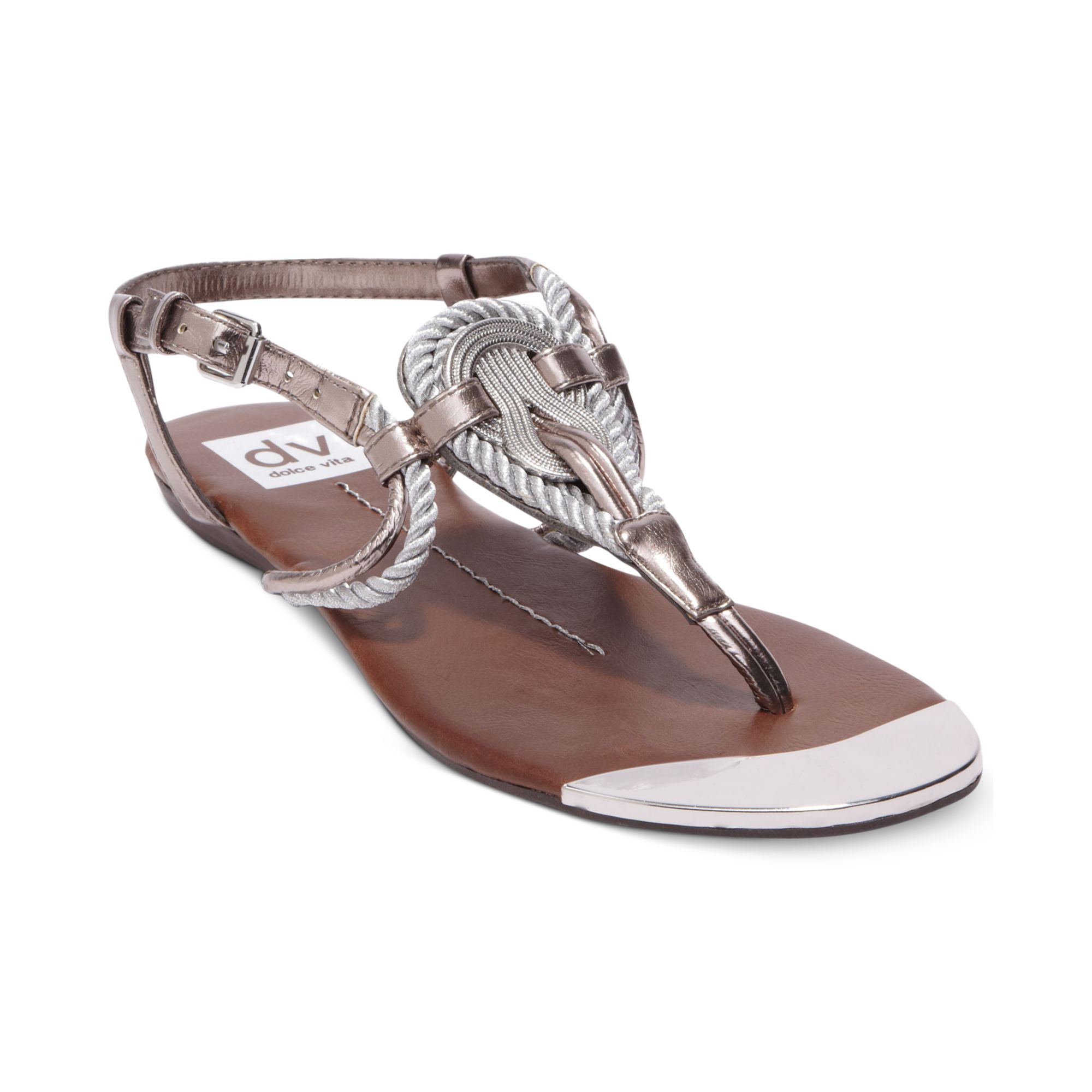 c9ab67d9e Dolce Vita Dv By Anica Flat Thong Sandals in Metallic - Lyst