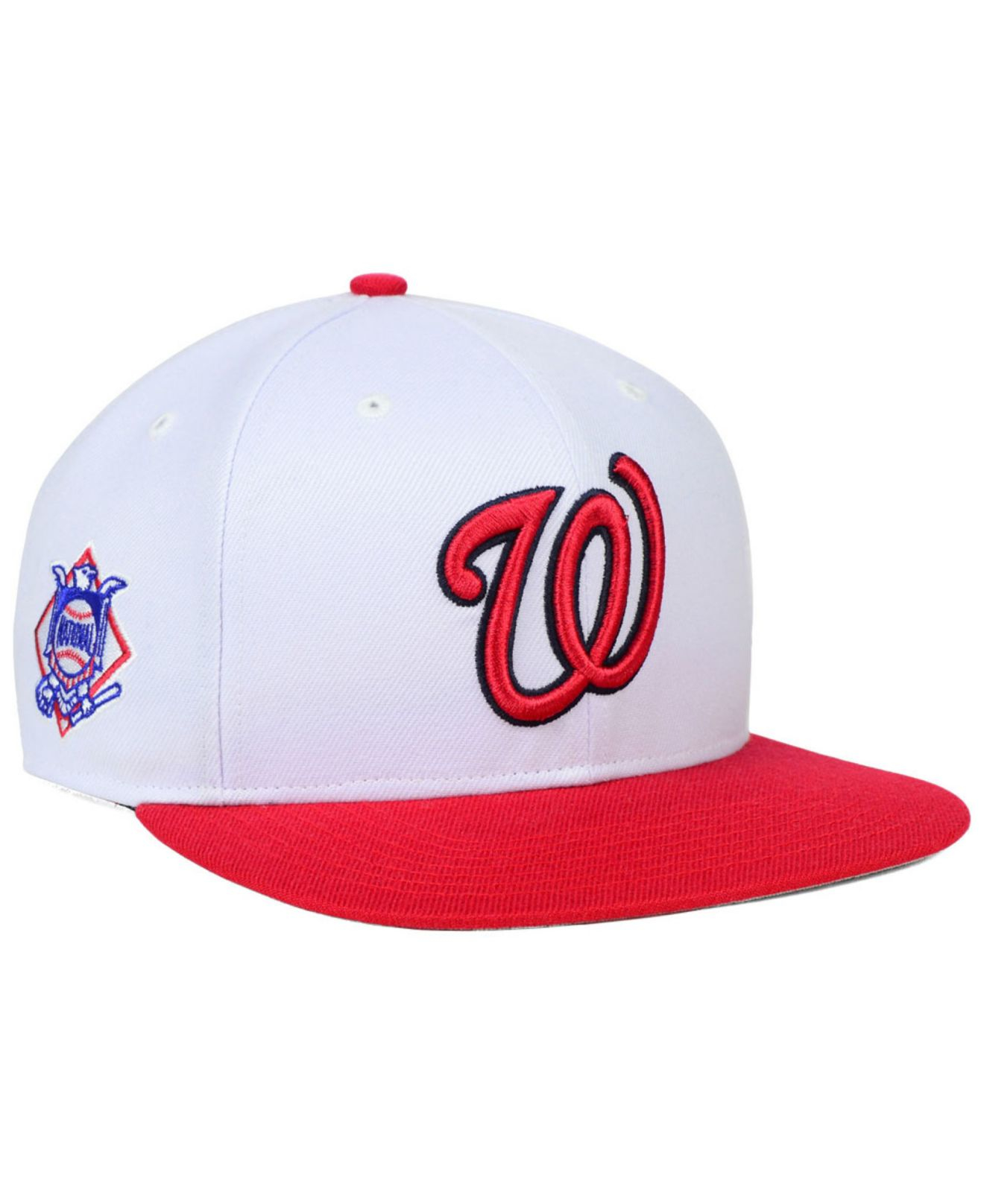 size 40 3df75 26d05 ... canada lyst 47 brand washington nationals sure shot snapback cap in red  for men 5272b 7fde8