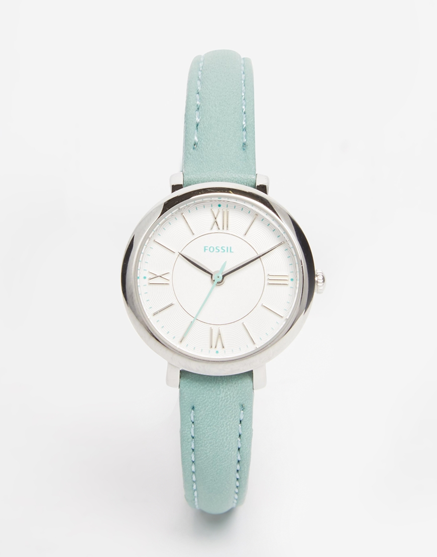 Lyst Fossil Jacqueline Watch In Green