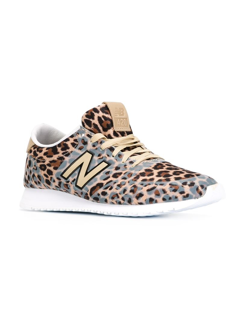 New Balance Leather Leopard Print Trainers in Yellow & Orange ...