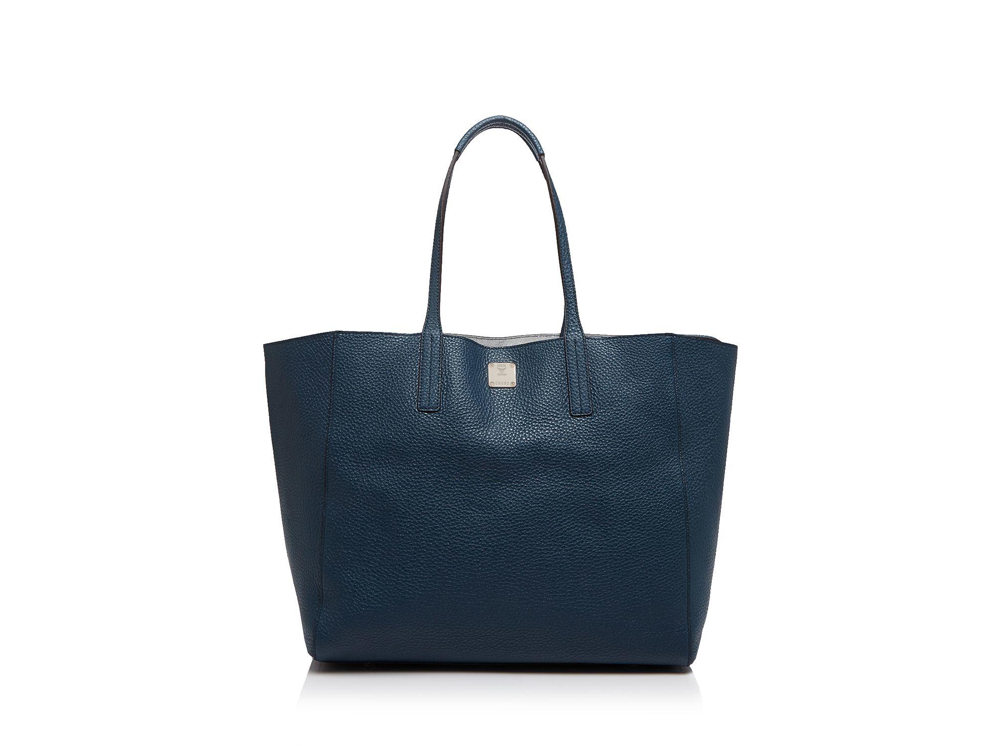 MCM Tote - Medium Reversible Shopper in Blue