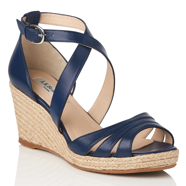 John Lewis Navy Blue Wedge Shoes