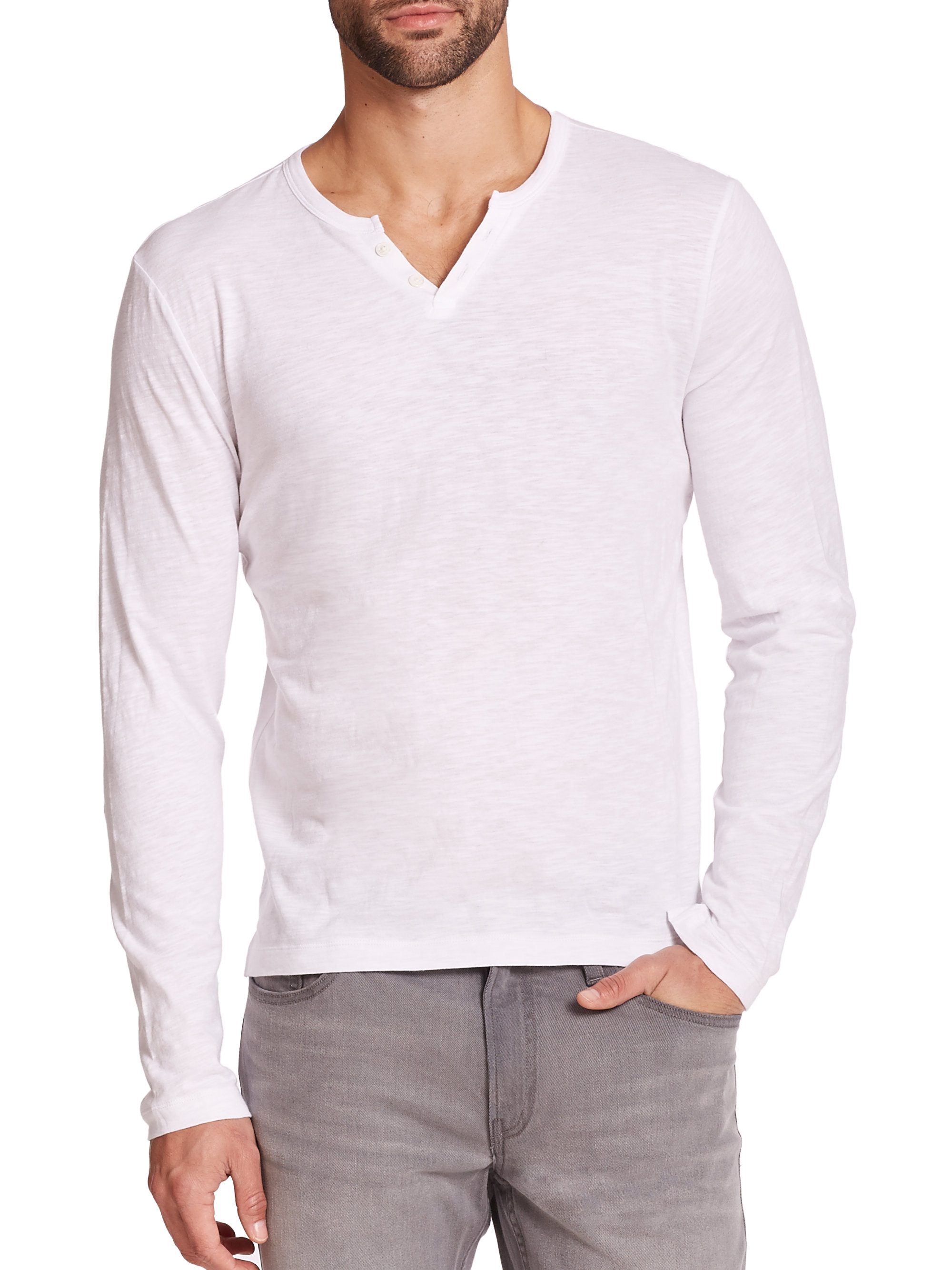 michael kors cotton jersey t shirt in white for men lyst. Black Bedroom Furniture Sets. Home Design Ideas