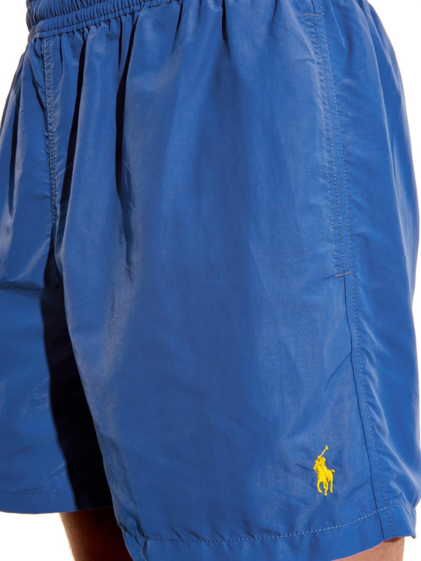 polo ralph lauren hawaiian 5 swim boxer in yellow for men. Black Bedroom Furniture Sets. Home Design Ideas