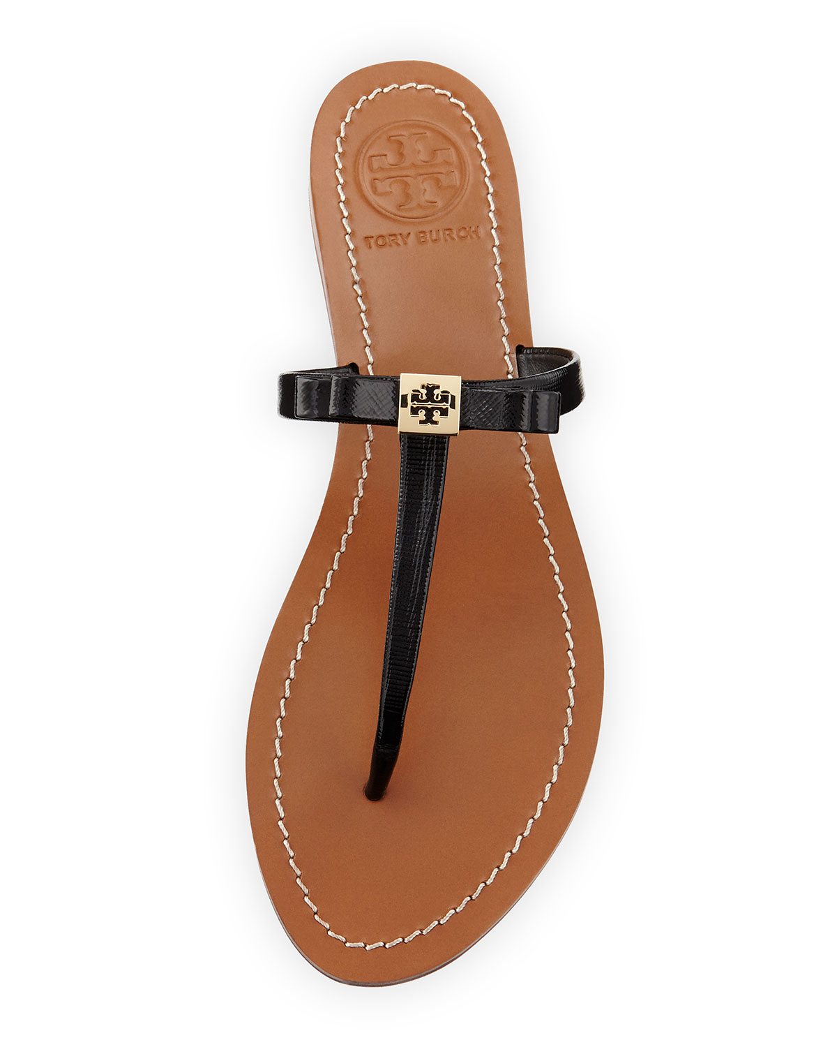 b6e227afcd3 Lyst - Tory Burch Leighanne Bow Thong Sandal in Black