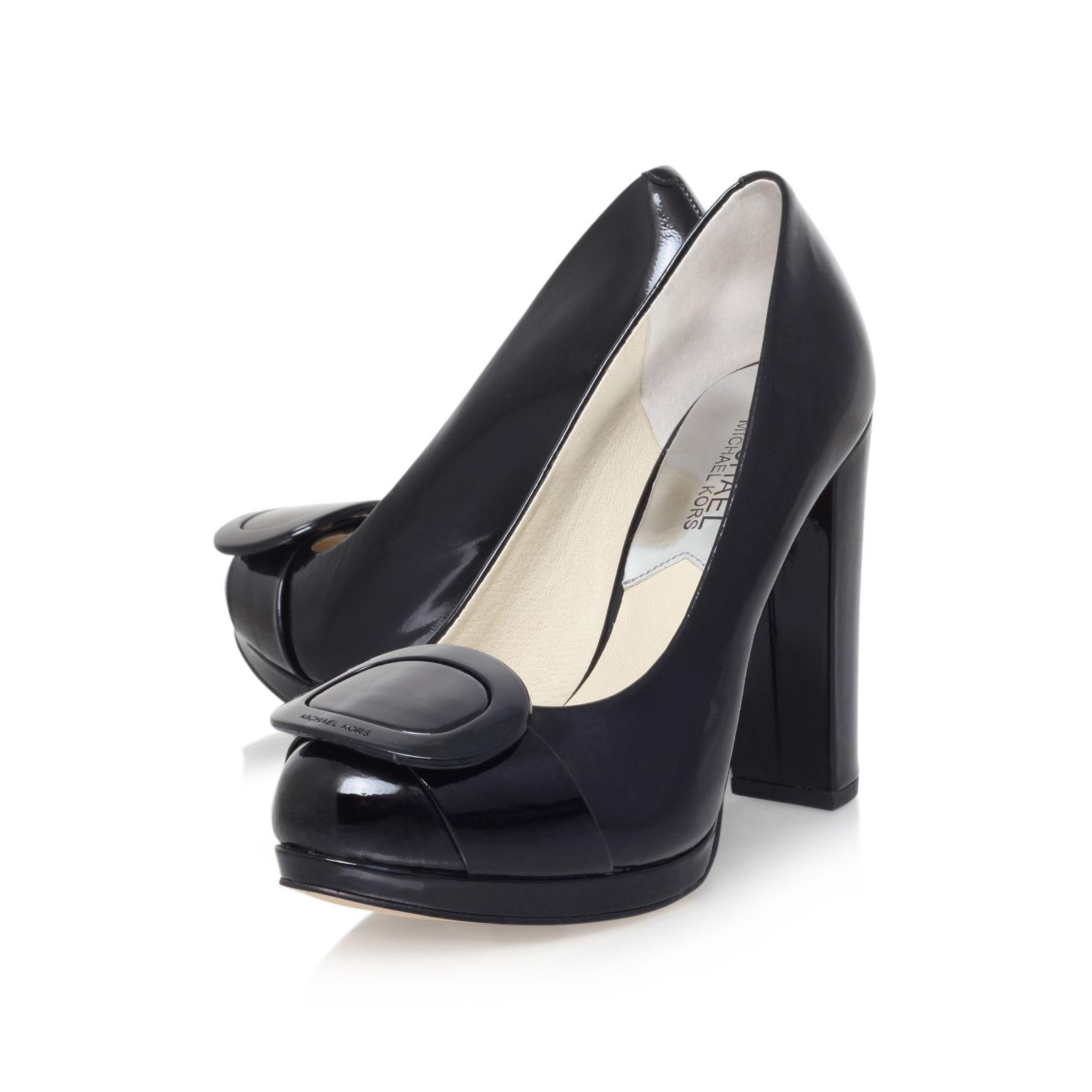 michael kors pauline platform high heel court shoes in black lyst. Black Bedroom Furniture Sets. Home Design Ideas