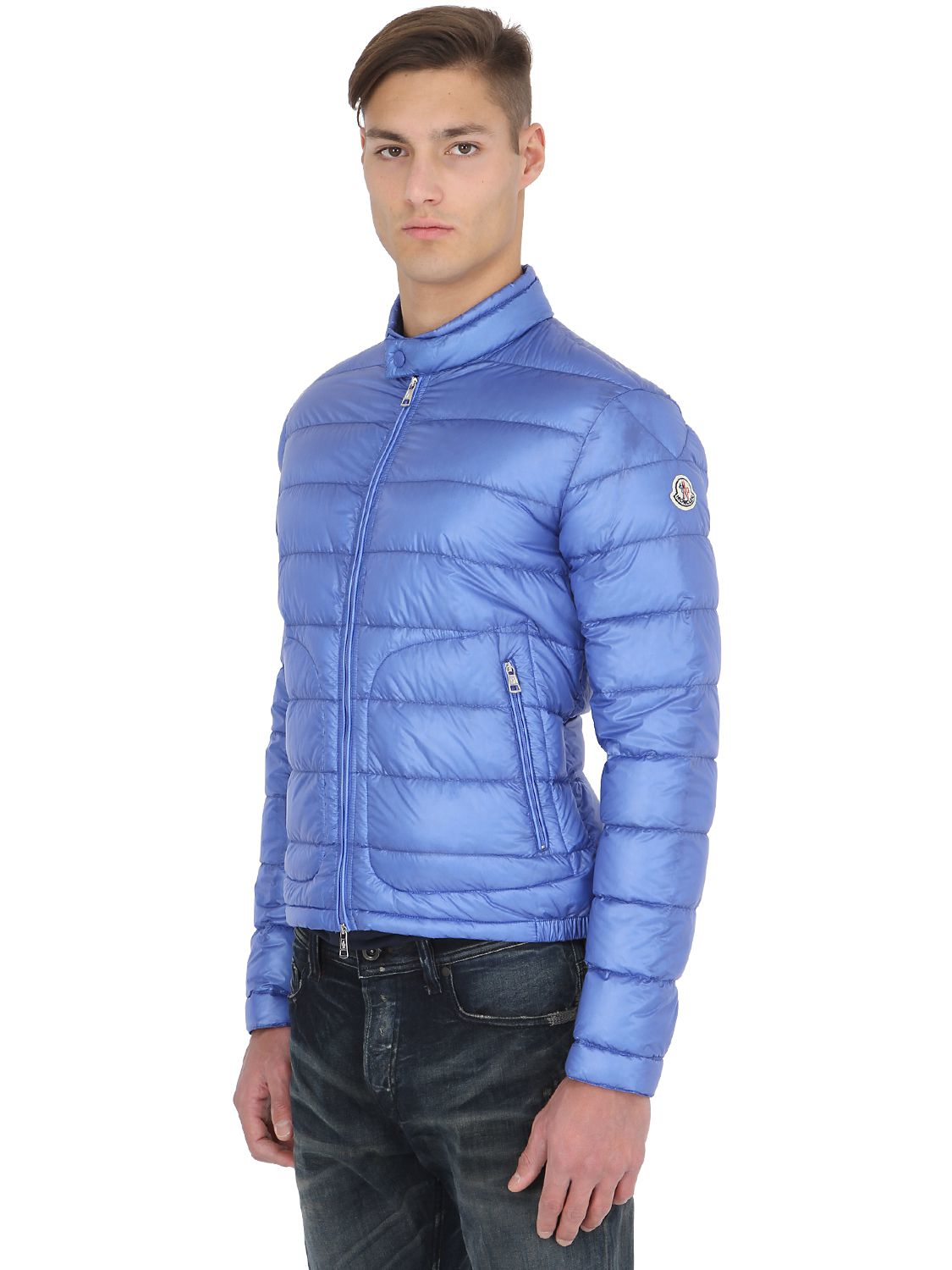 Lyst - Moncler Acorus Lightweight Nylon Down Jacket In ...