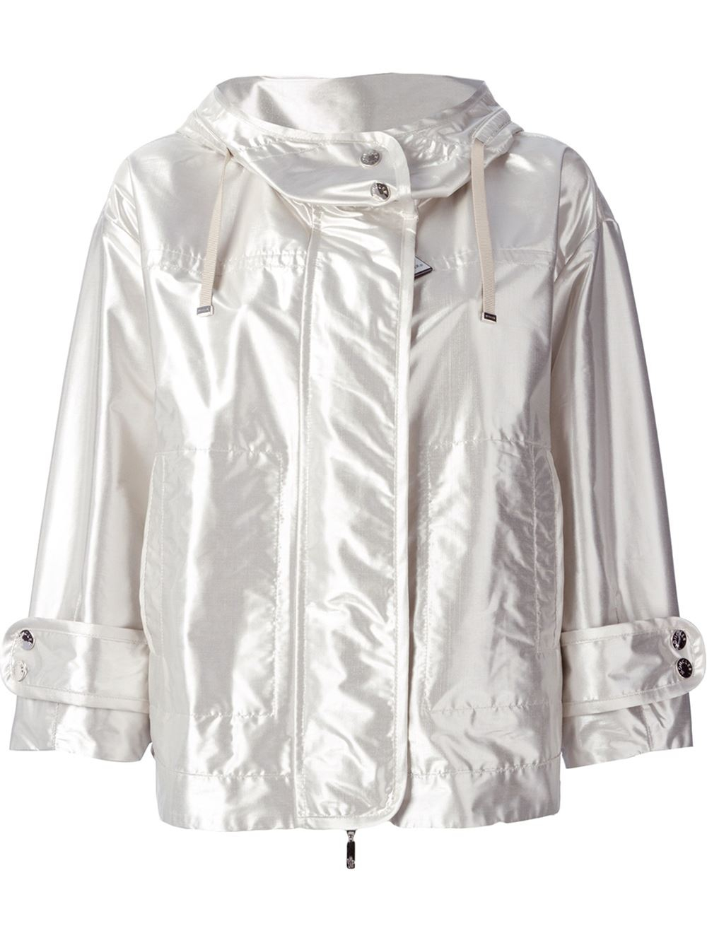 Moncler domon jacket in silver metallic lyst for Domon men s underwear