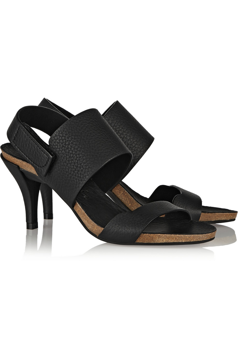 9dea9246f6a Lyst - Pedro Garcia Whisper Textured-Leather Sandals in Black