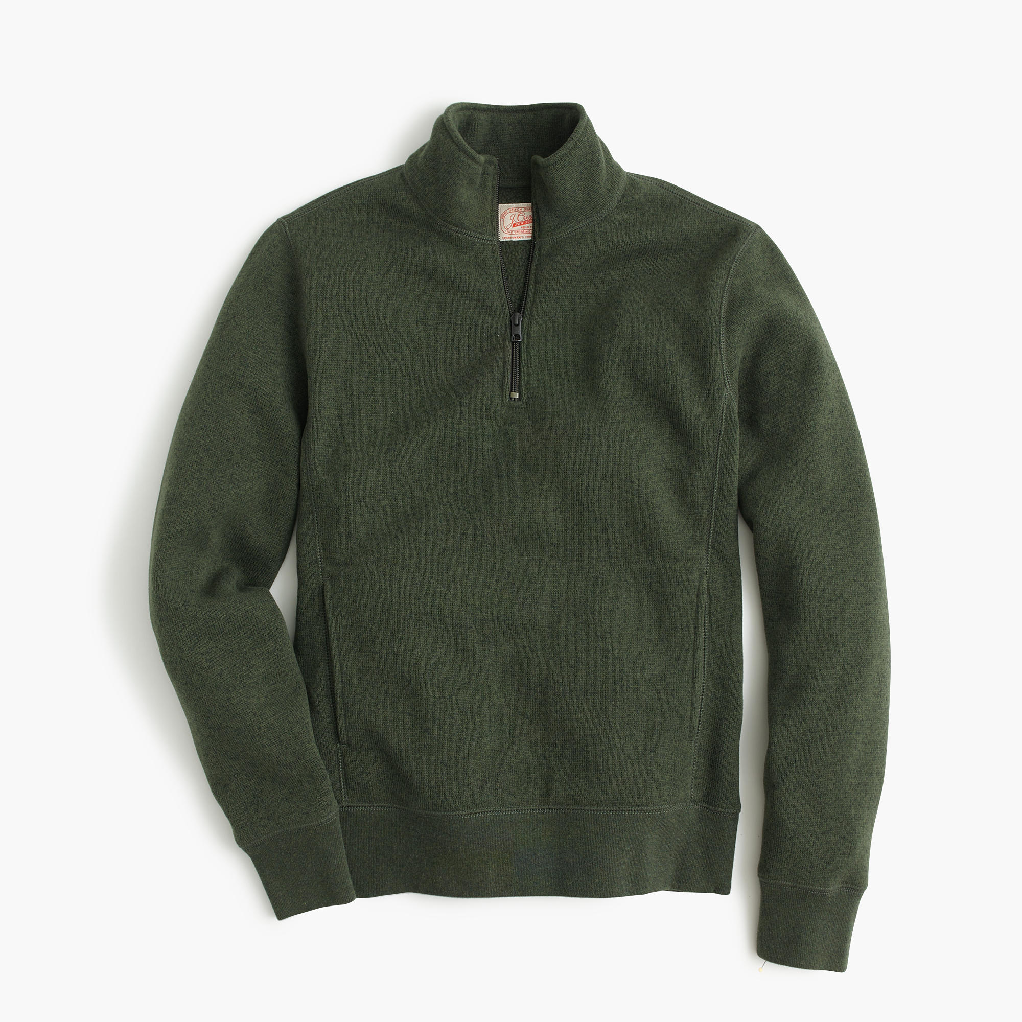 J.crew Summit Fleece Half-zip Pullover Jacket in Green for Men | Lyst